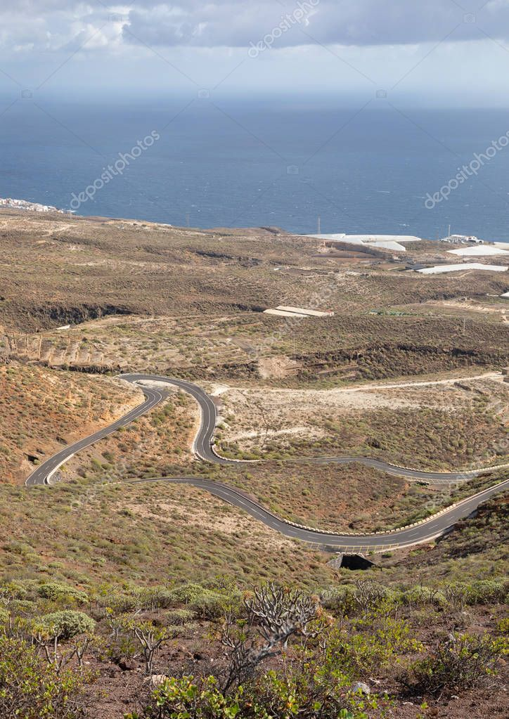 Road of Tenerife island, Spain