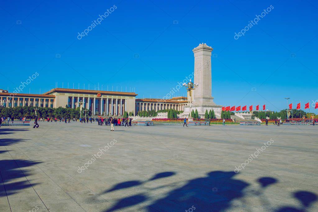 Tiananmen square, China, 2016 autumn.