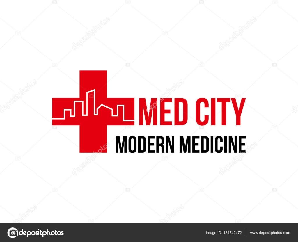 logo medicina cidade modelo projeto vector � vetor de