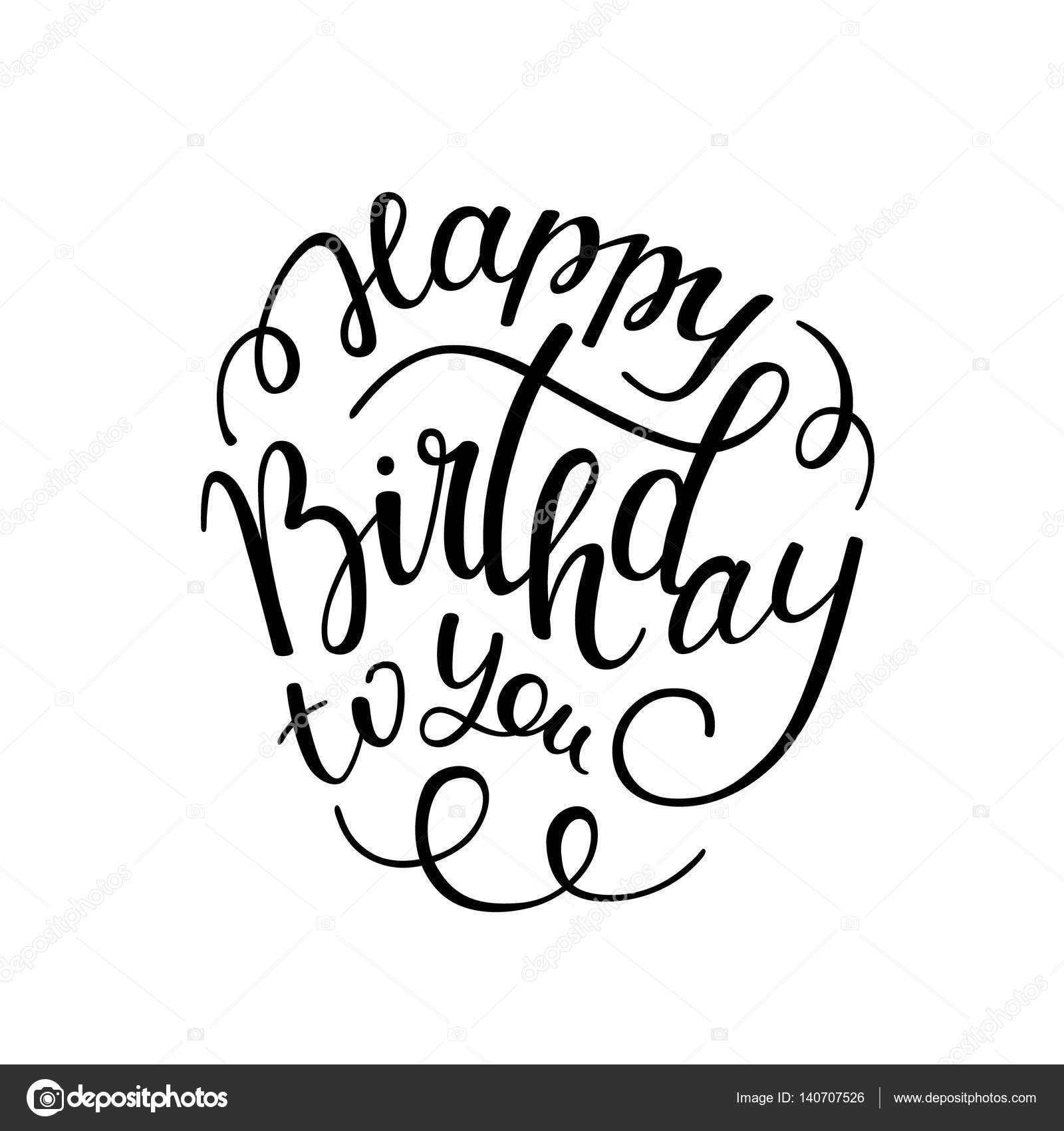 happy birthday hand lettering mano letras feliz cumplea 241 os vector de stock 169 homari 22082 | depositphotos 140707526 stock illustration hand lettering happy birthday to
