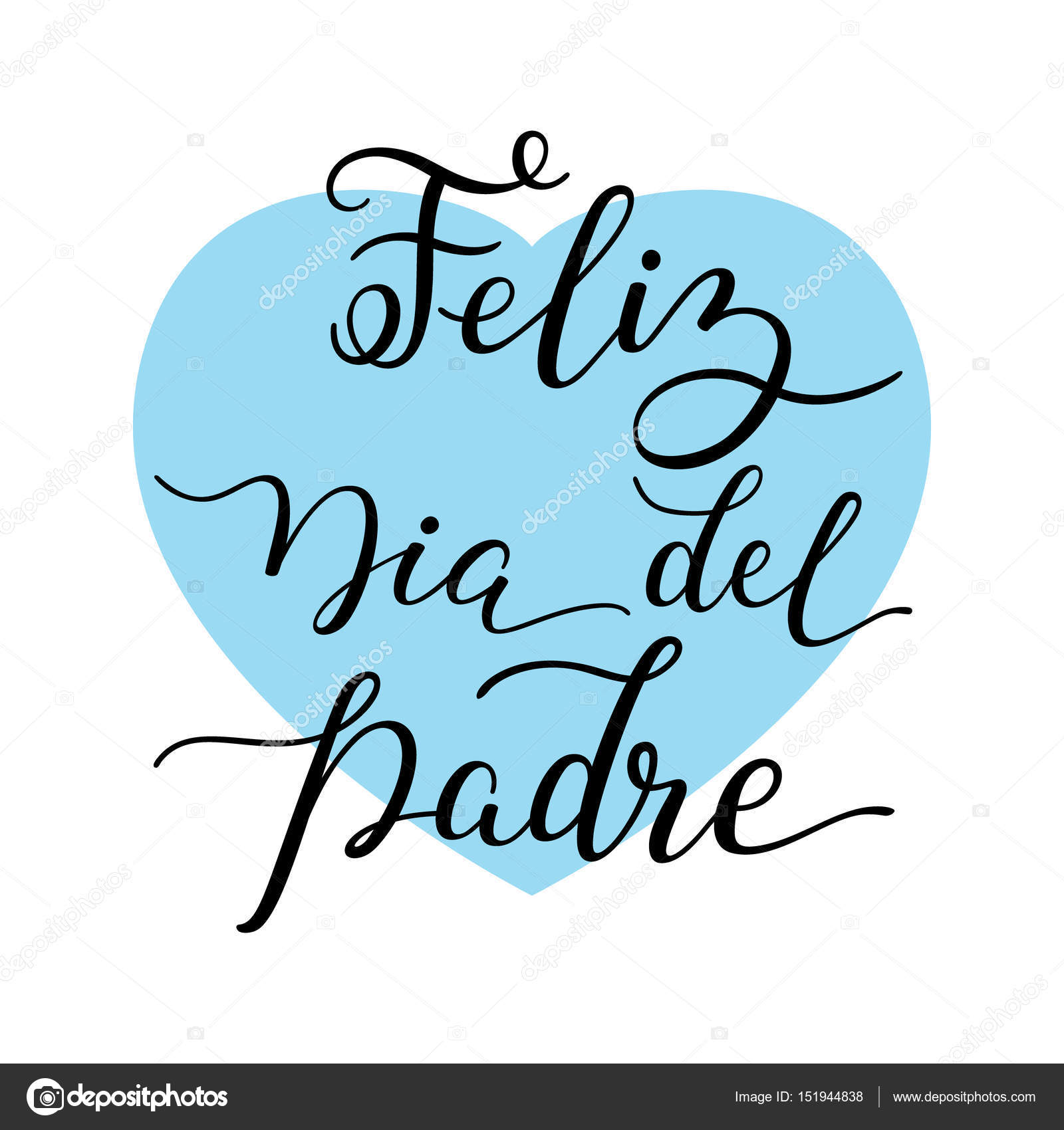 hand lettering happy father s day with heart in spanish feliz dia