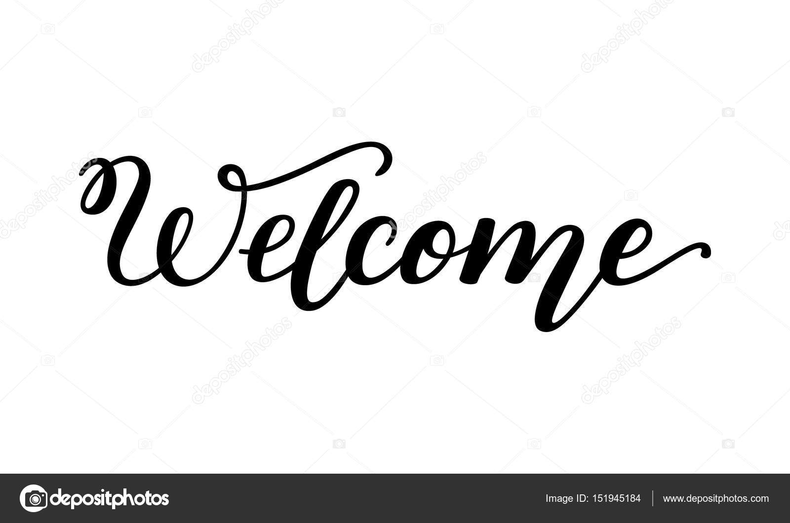 html welcome page template - hand lettering welcome template for card poster print