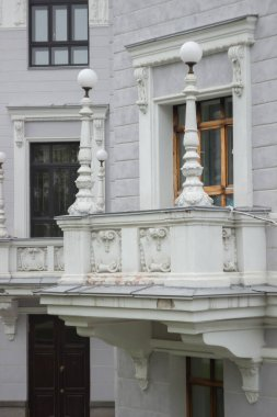 Old balcony Opera House in Yekaterinburg, Russia