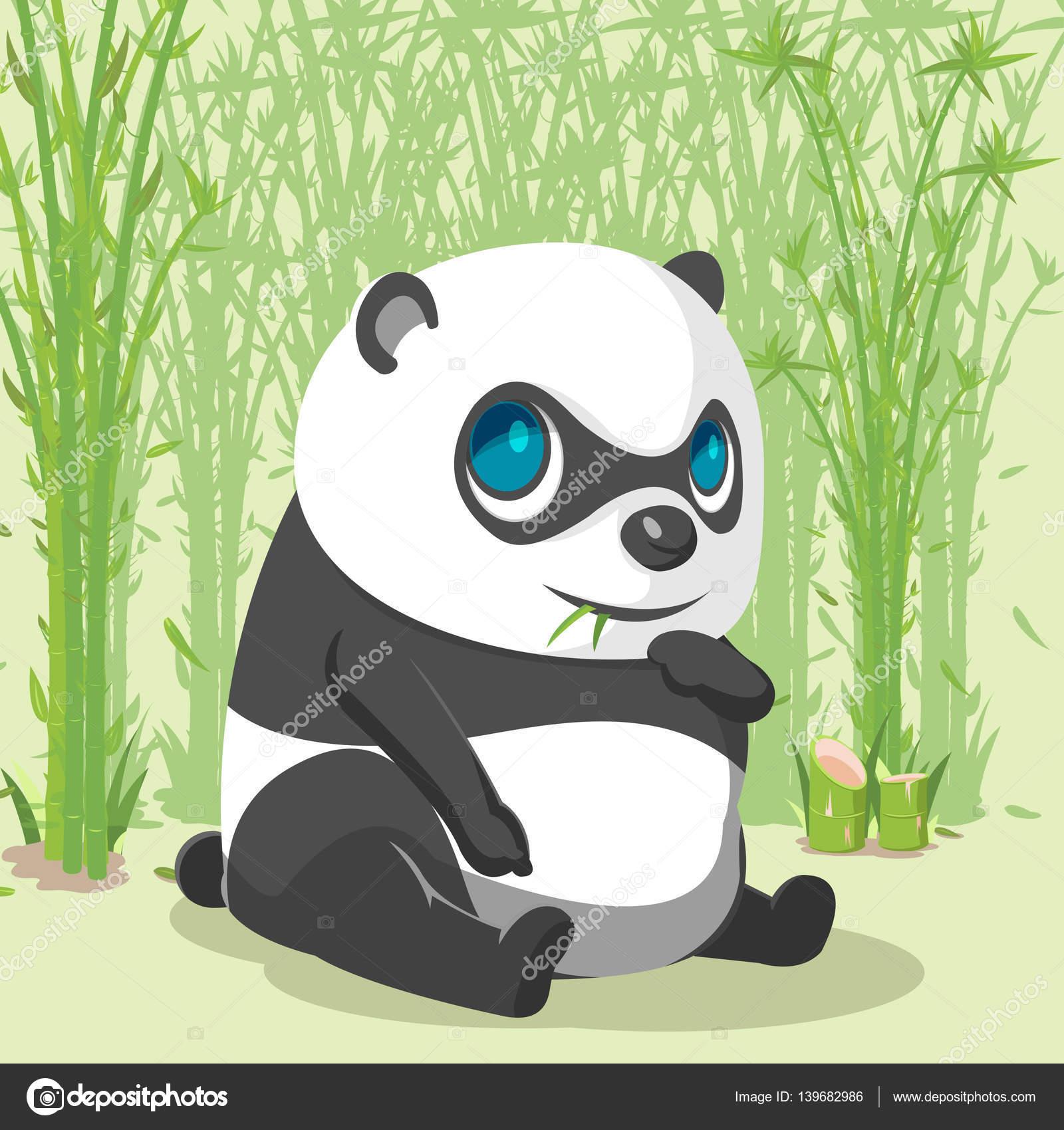 Panda Baby Cute Cartoon Character Vector Stock Vector Pszaber