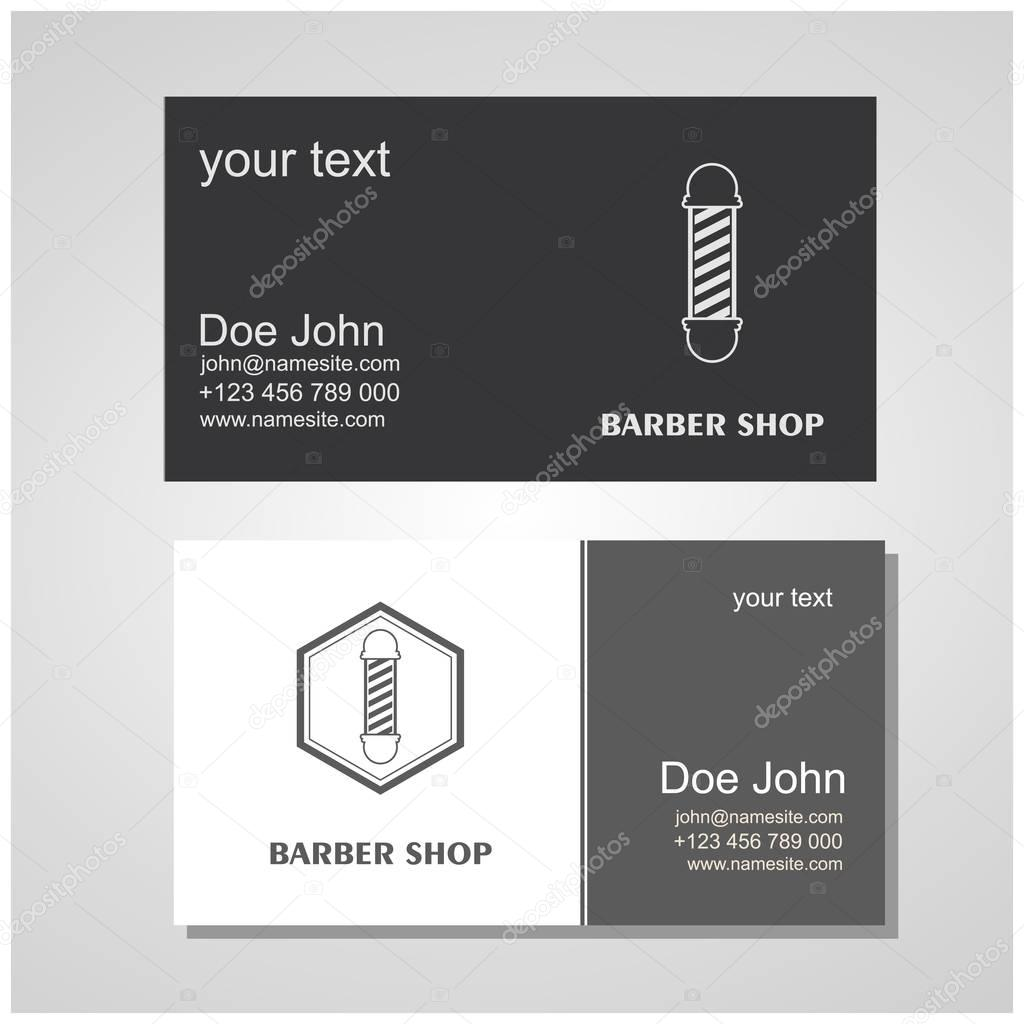 Hair salon barber shop design business cards template set stock hair salon barber shop design business cards template set stock vector reheart Choice Image