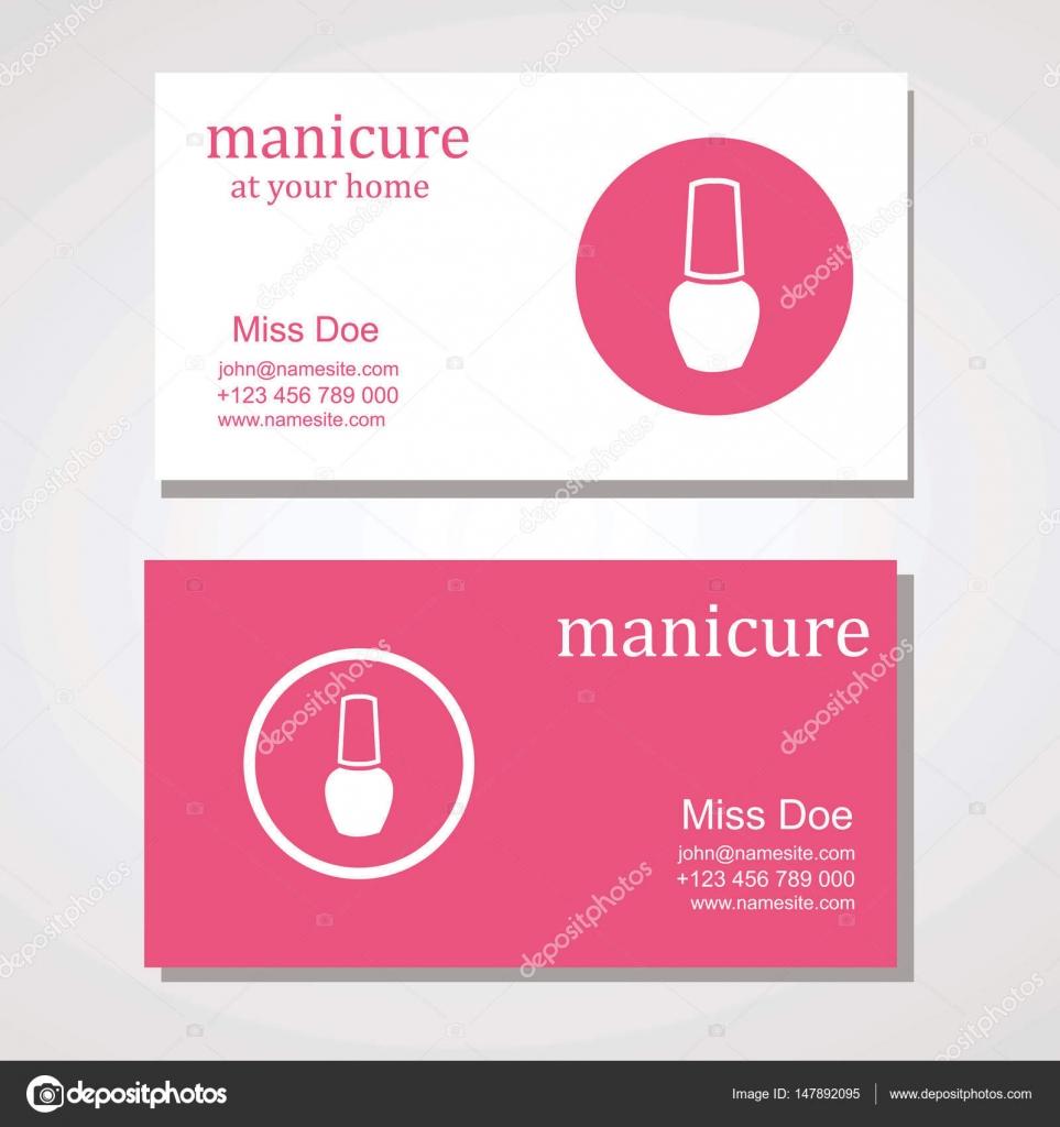 manicura salón tarjeta de visita diseño plantillas conjunto ...