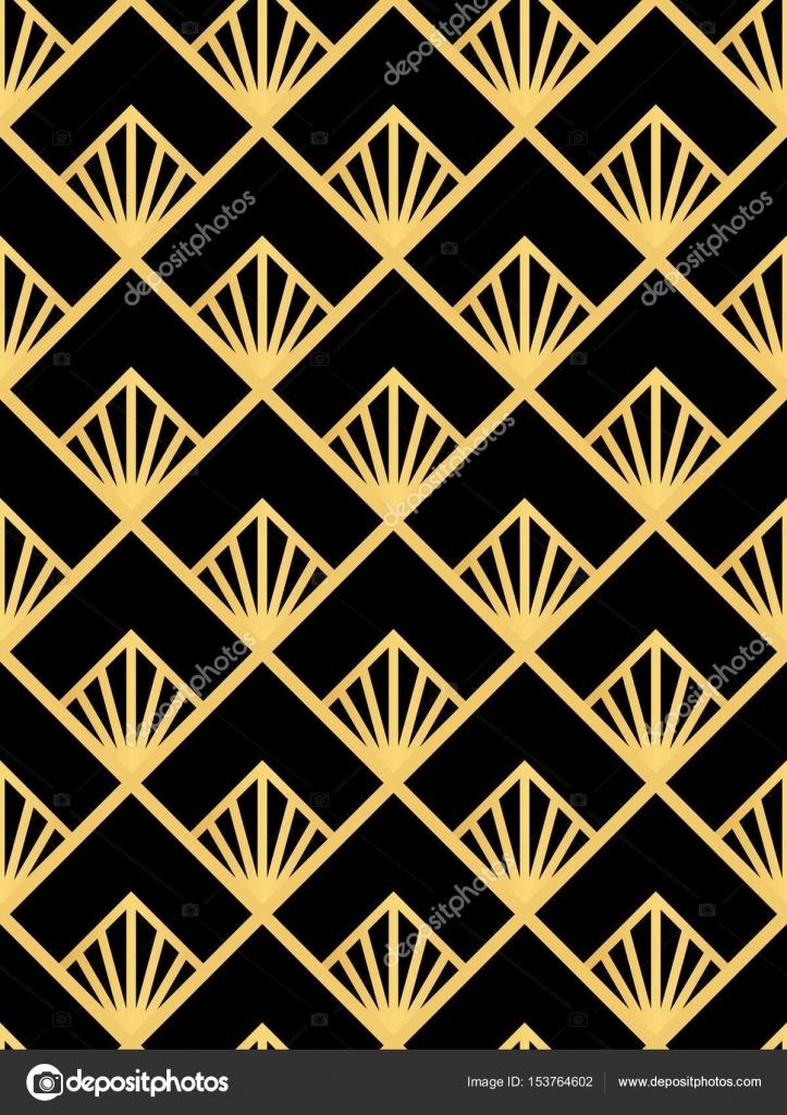 Deko Ornament.Art Deco Seamless Pattern Decoration Ornament Stock
