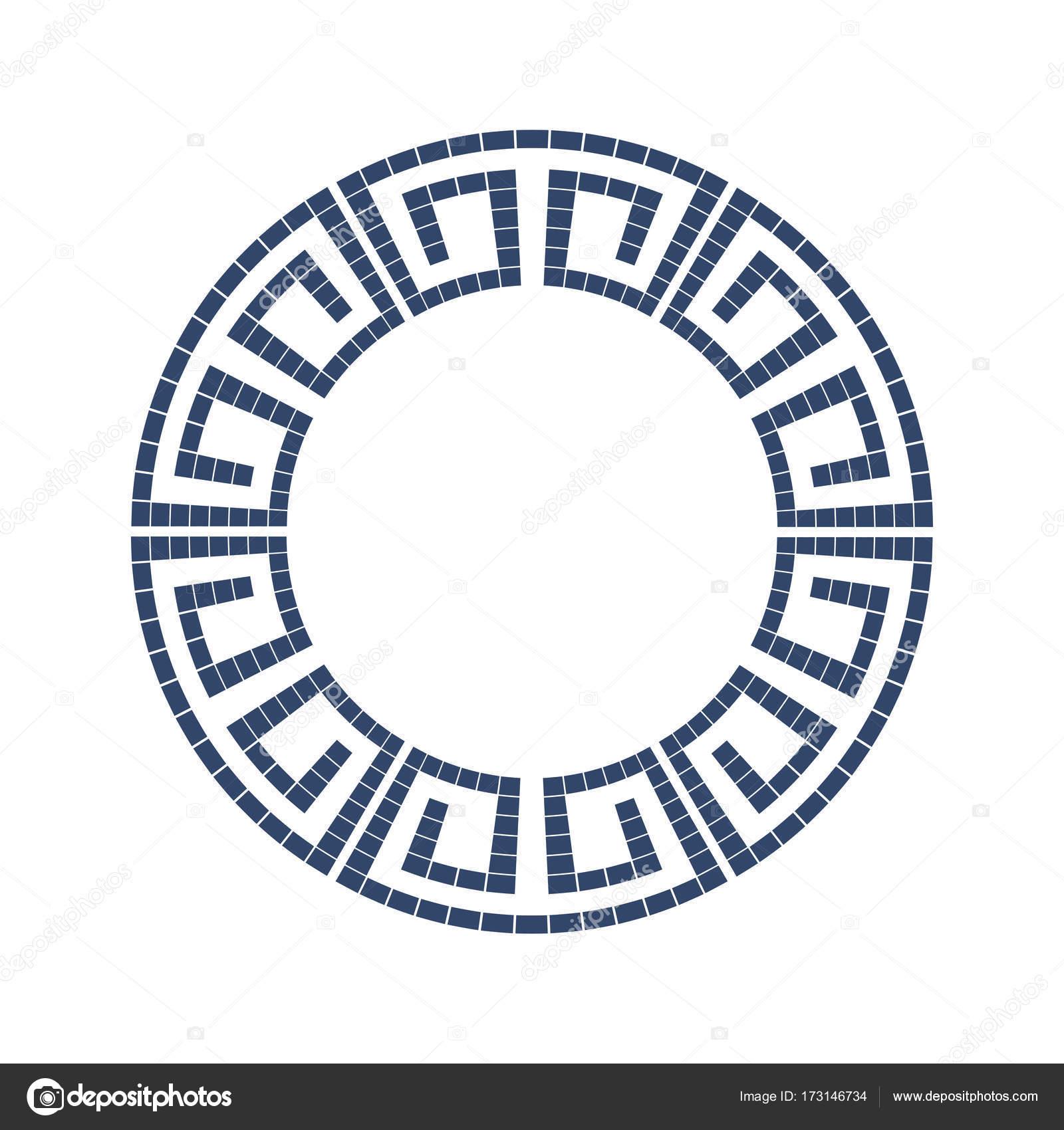 Patrón de estilo griego marco decorativo ornamental aislado. Griego ...