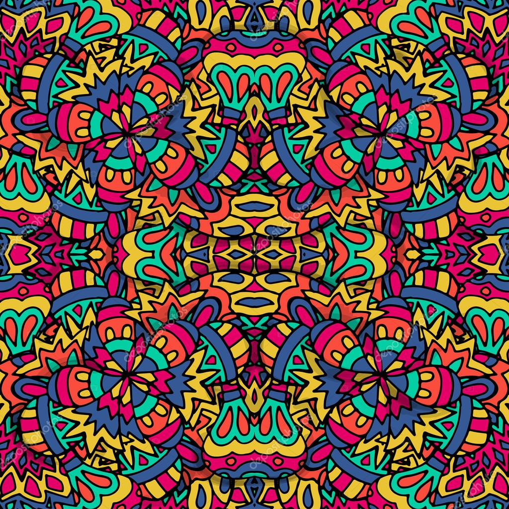 Vector seamless pattern. Ethnic geometric print. Colorful ...