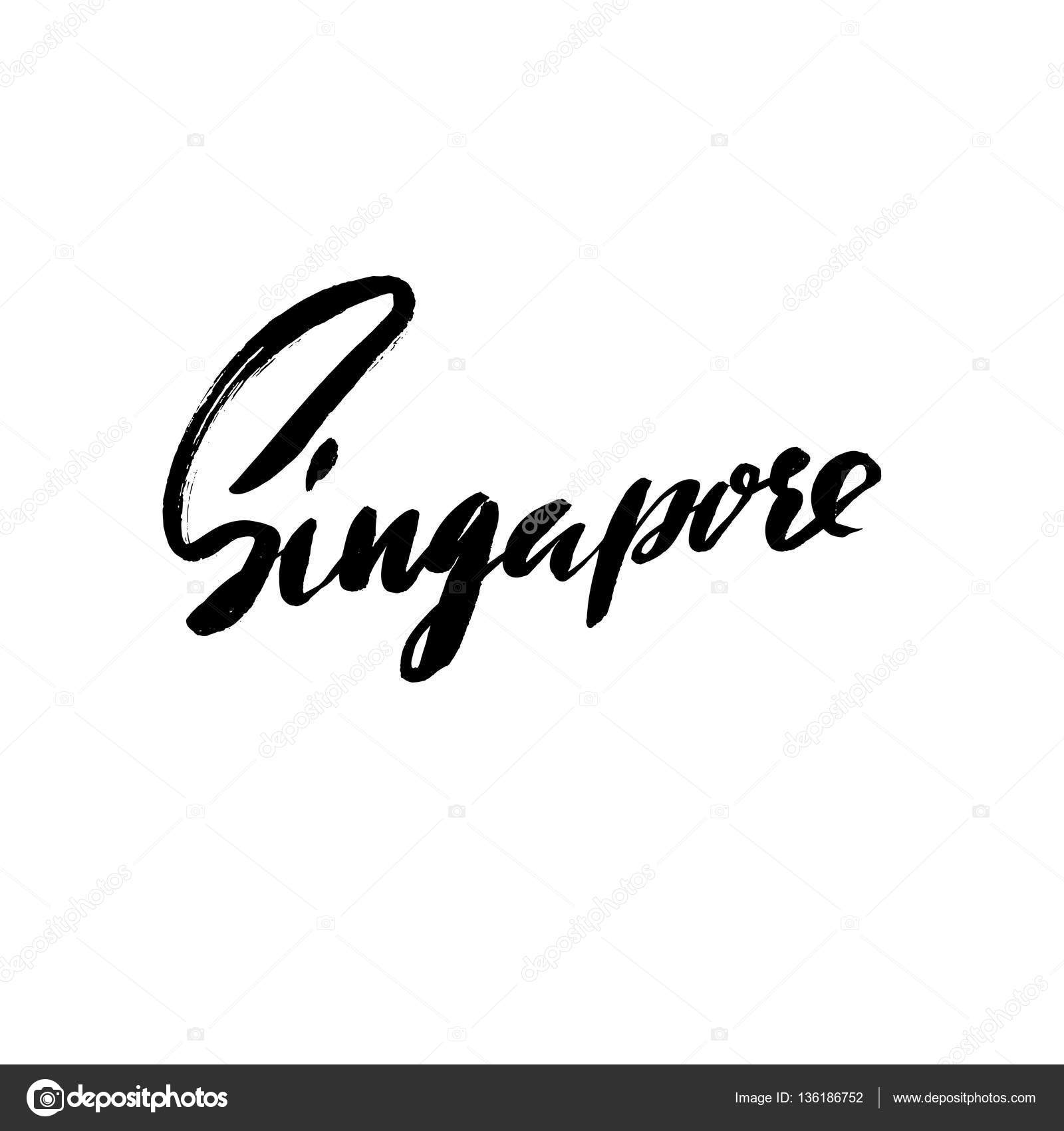 Greetings From Singapore Greeting Card With Typography Lettering