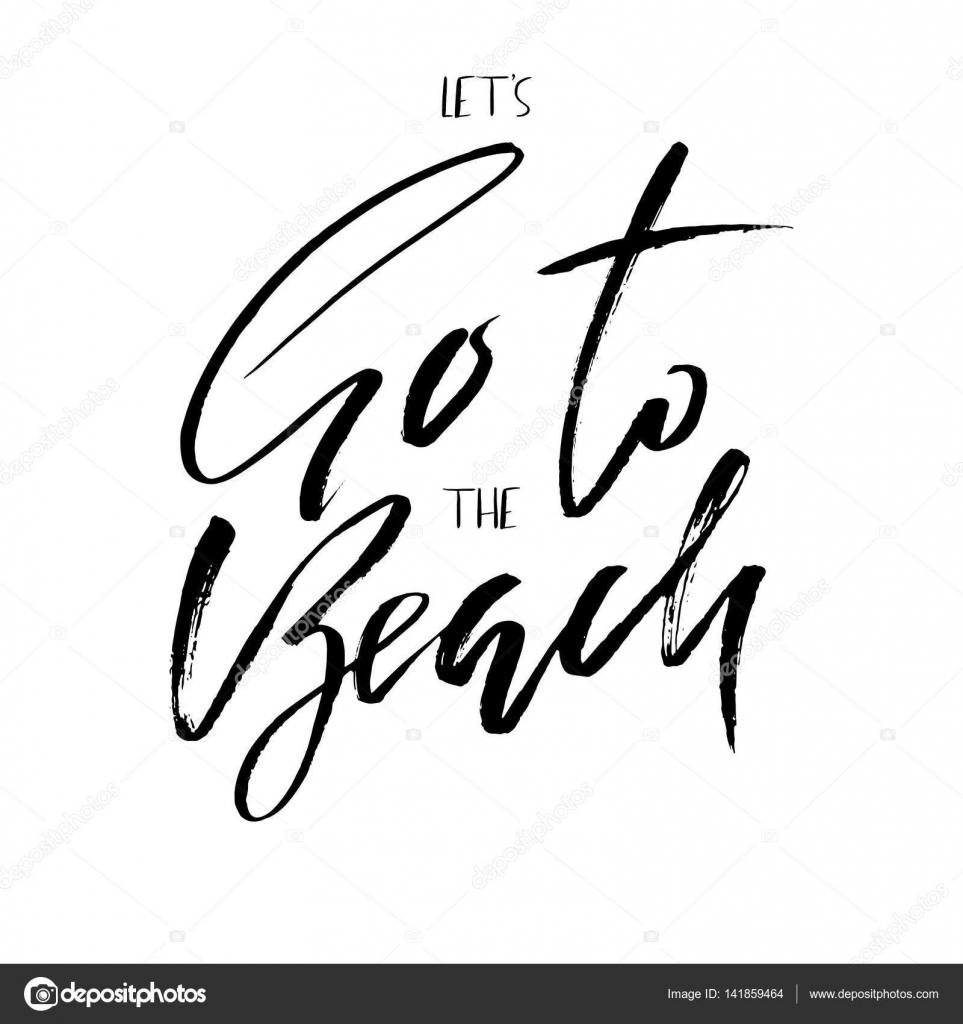 Ir à Praia Inspiradora Citação Sobre O Verão Frase Da Tipografia