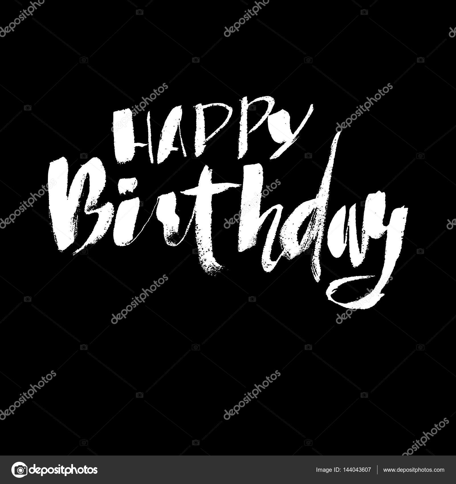Letras De Feliz Cumpleaños Para Invitación Y Tarjeta De