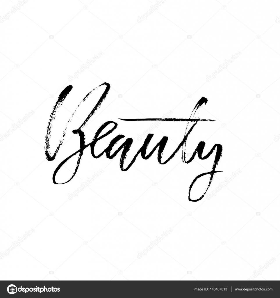 Piękno Pędzelkiem Kaligrafii Motywacyjne Frazę Odręcznie