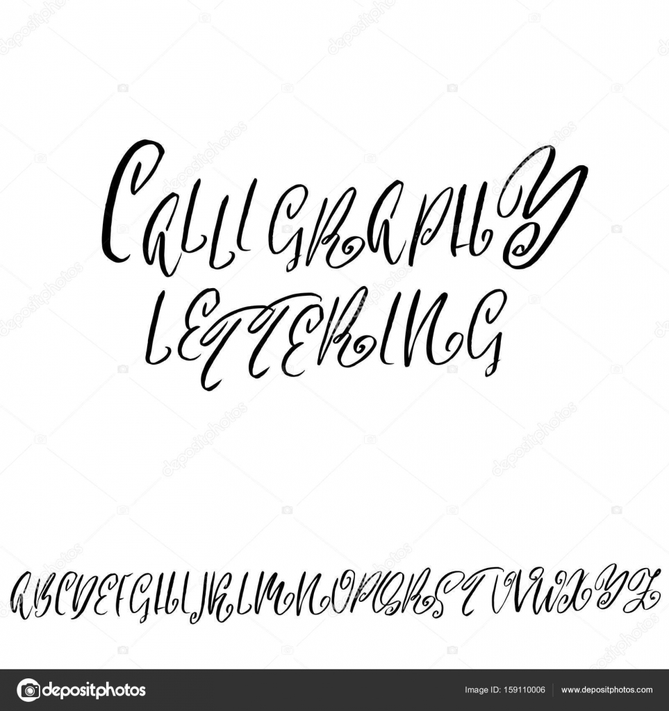 Calligraphy fonts alphabet printable | Hand drawn elegant