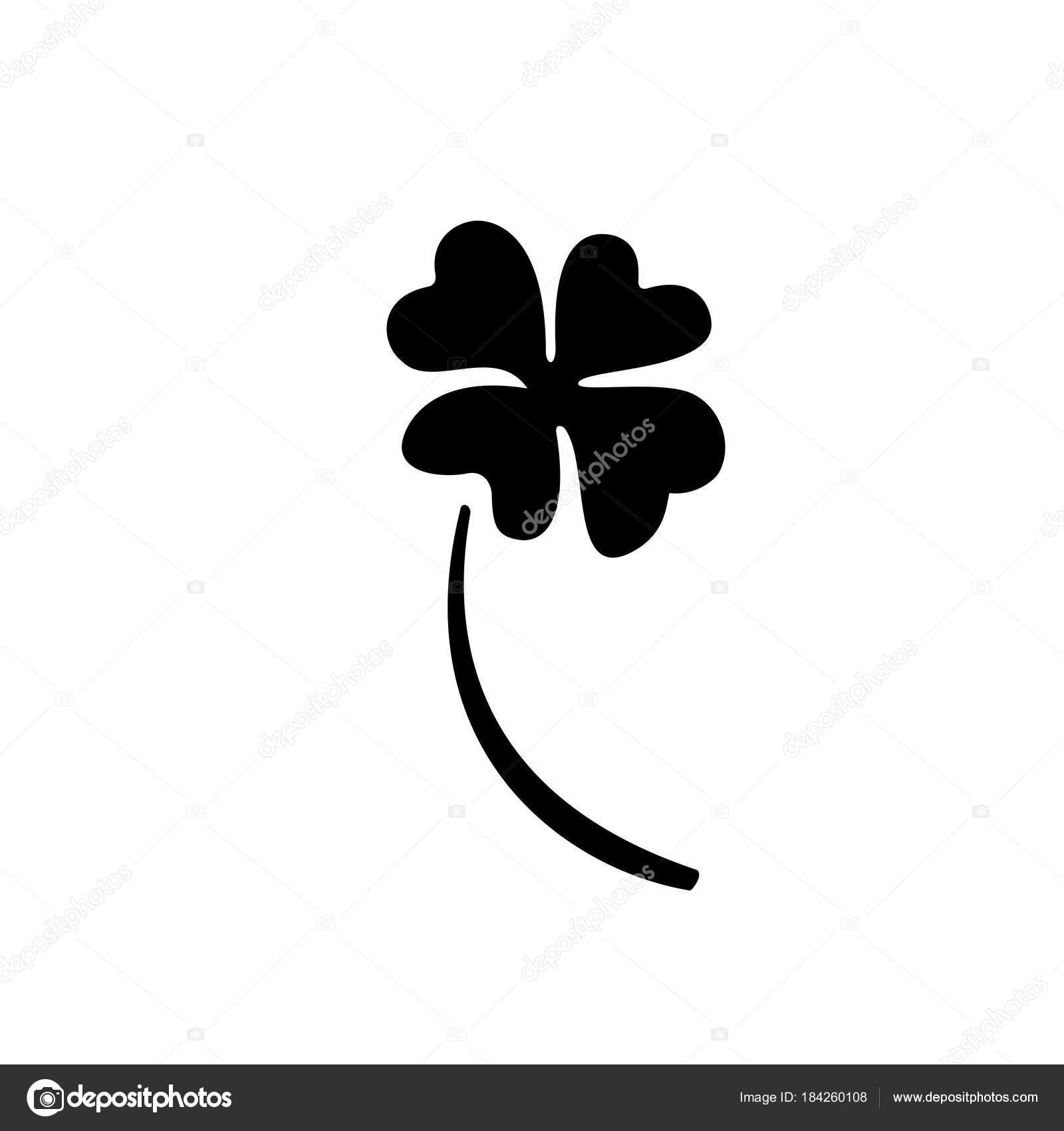 Símbolo del trébol de cuatro hojas. Vector del día de St Patrick ...