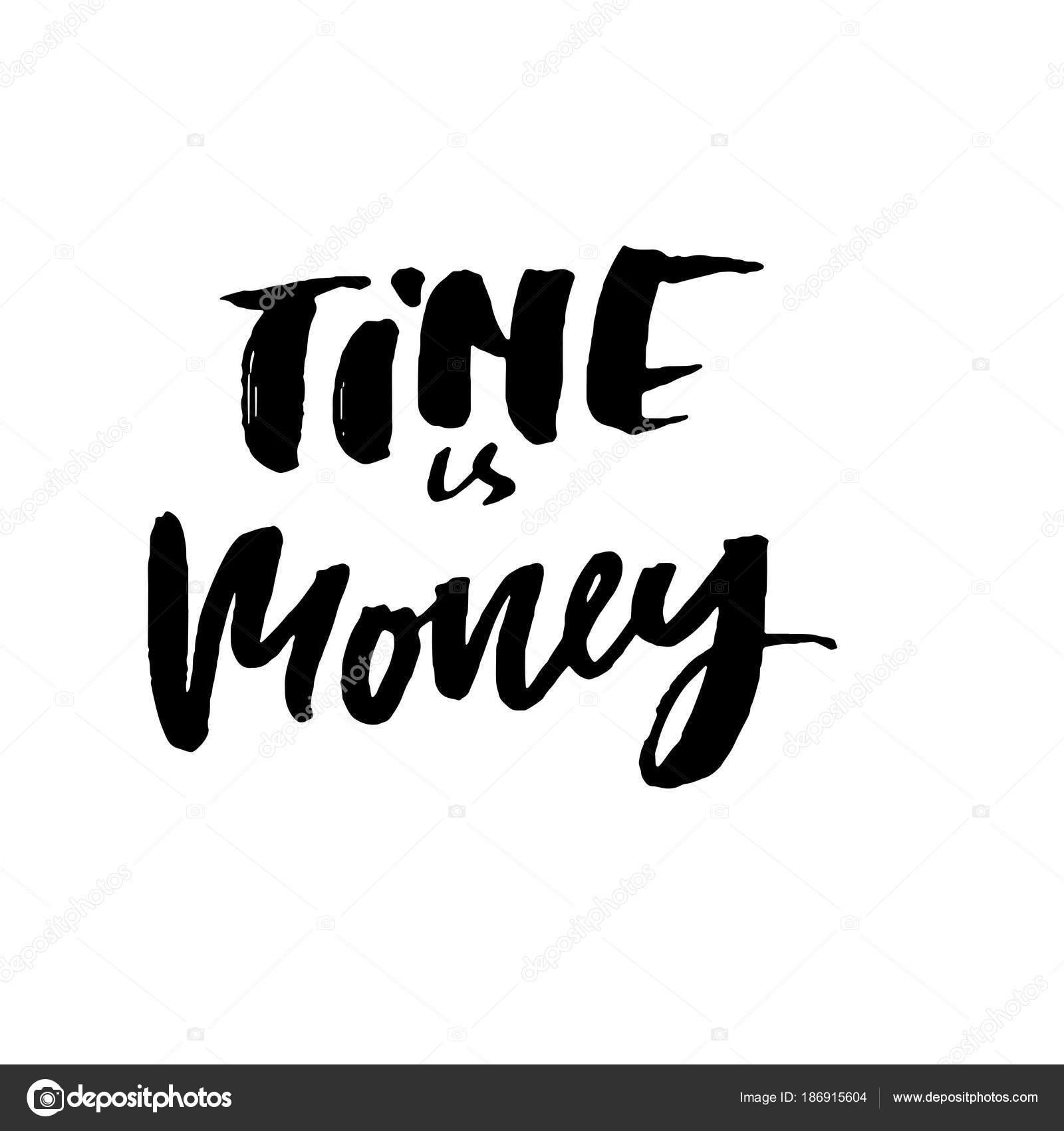 Tempo é Dinheiro Mão Extraídas Letras Motivacional De