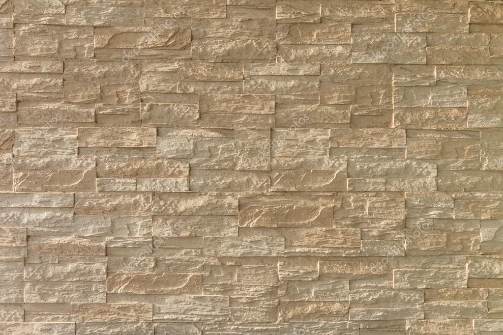 Pared Exterior De Ladrillo De Piedra Marron Ligero Fotos De Stock - Piedra-pared-exterior