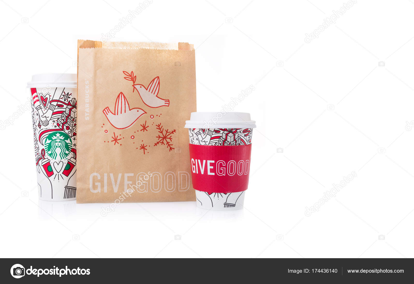 Starbucks Coffee paper cups in beautiful 2018 Christmas design a ...