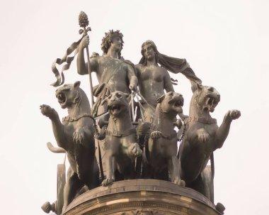 Sculpture at the top of the portal Semper Opera. Baroque