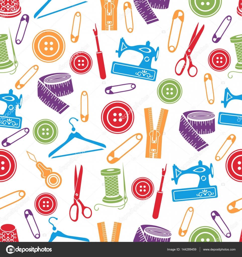 Vector: costura | Herramientas de costura de patrones sin fisuras ...