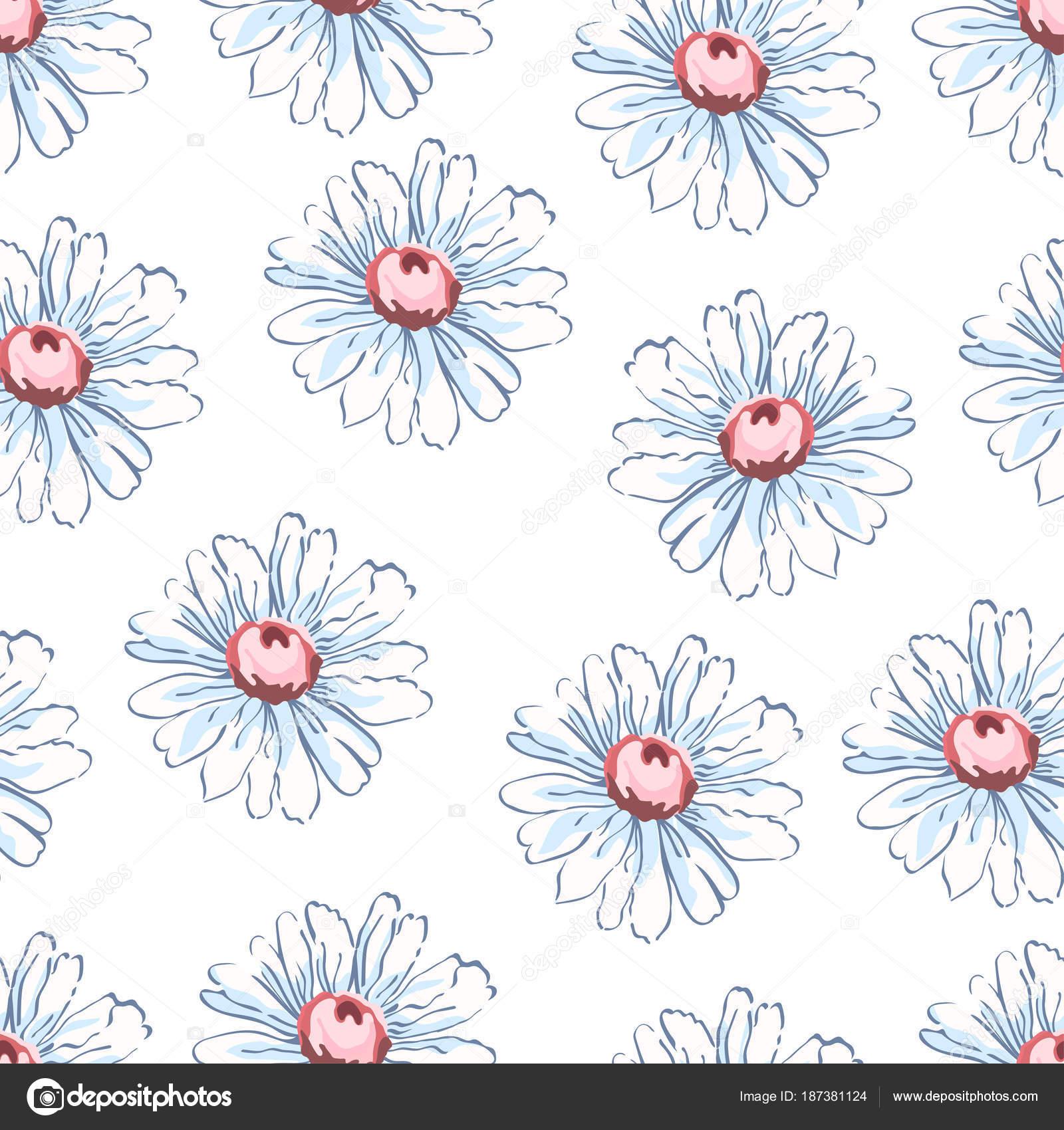 Fondos para decorar un dibujo | Manzanilla flor dibujo de patrones ...