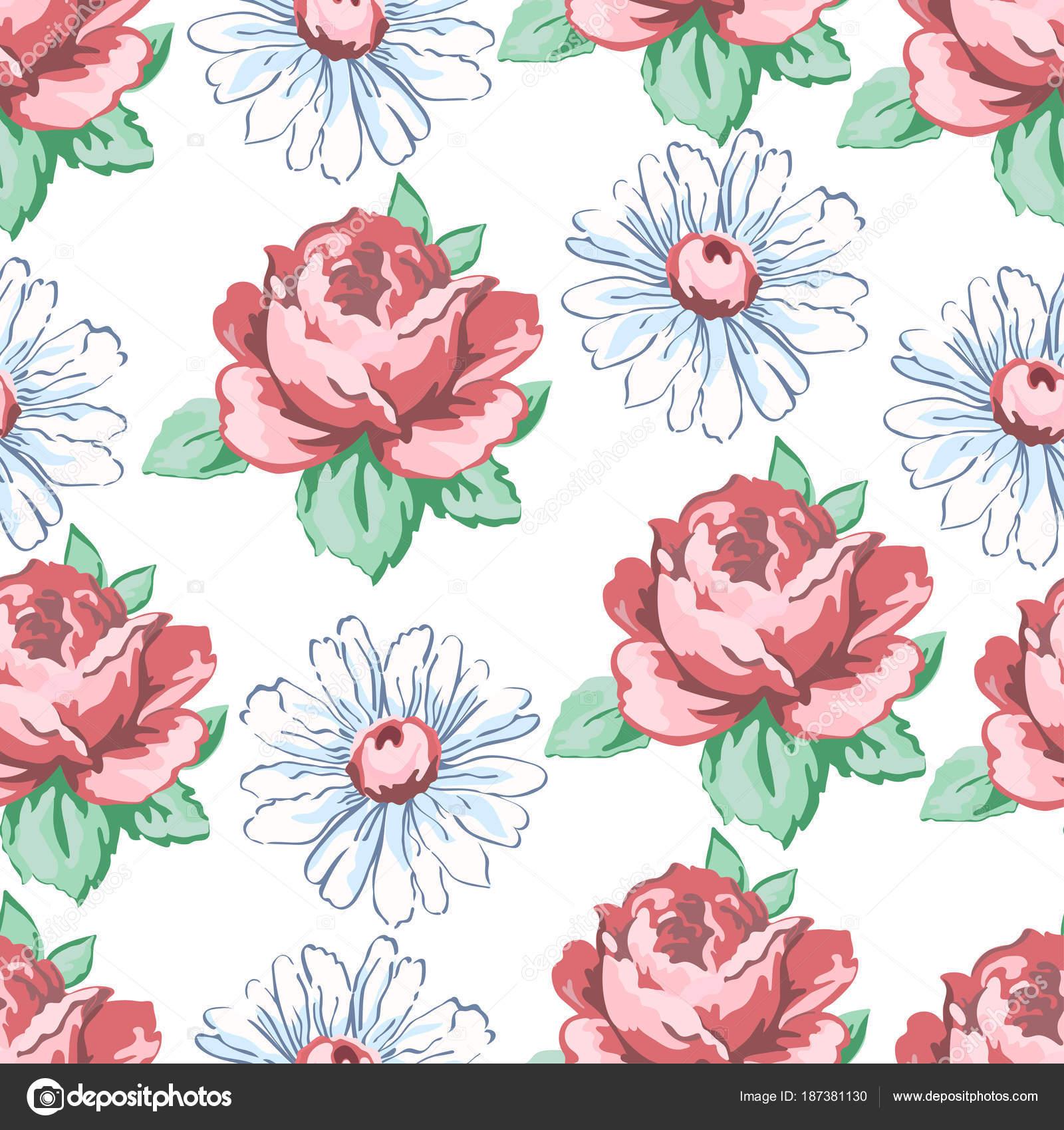 Dibujos: florales para bordar a mano | Mano dibujo de patrones sin ...