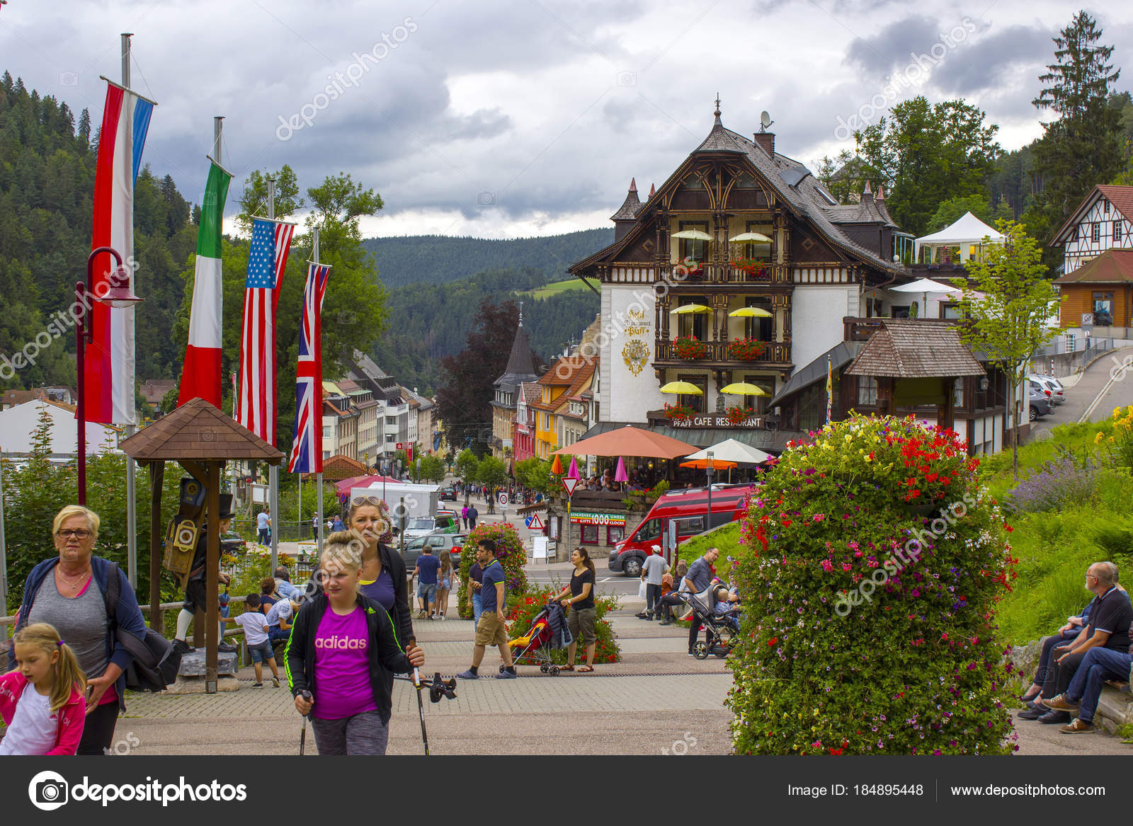 Triberg in black forest germany stock editorial photo - Piscine foret noire allemagne saint denis ...