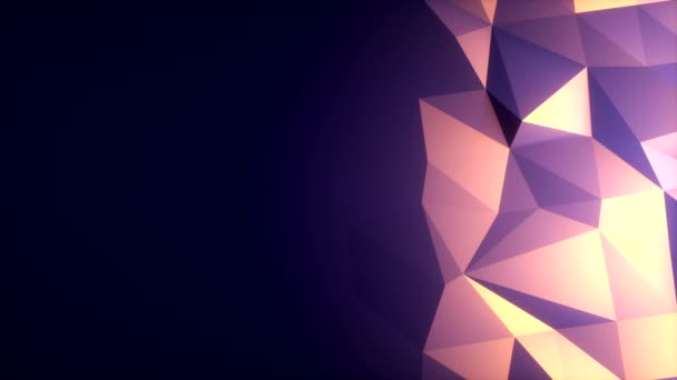 Polygons Waves Perfect seamless loop of slowmotion polygon waves