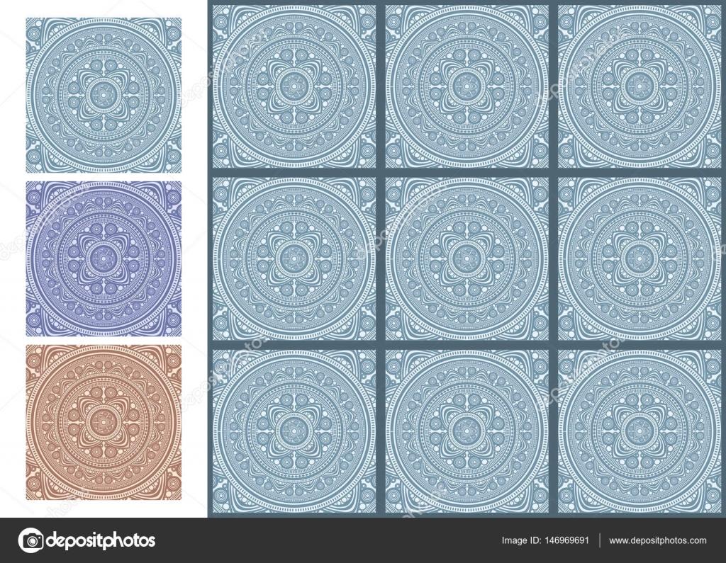 Vintage ceramic mosaic floor tile pattern. Template for design ...