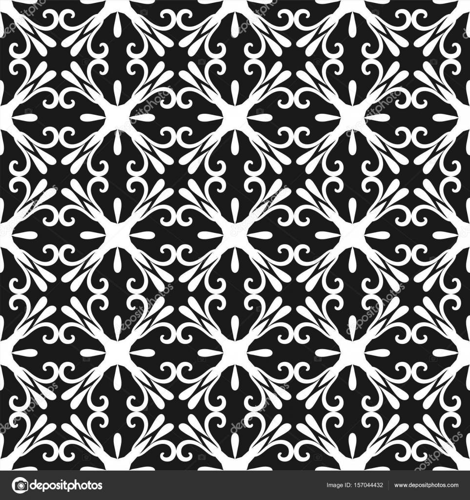 geometrischen abstrakten hintergrund nahtlose muster schwarz wei vektor illustration fr tapete - Tapete Schwarz Wei Muster