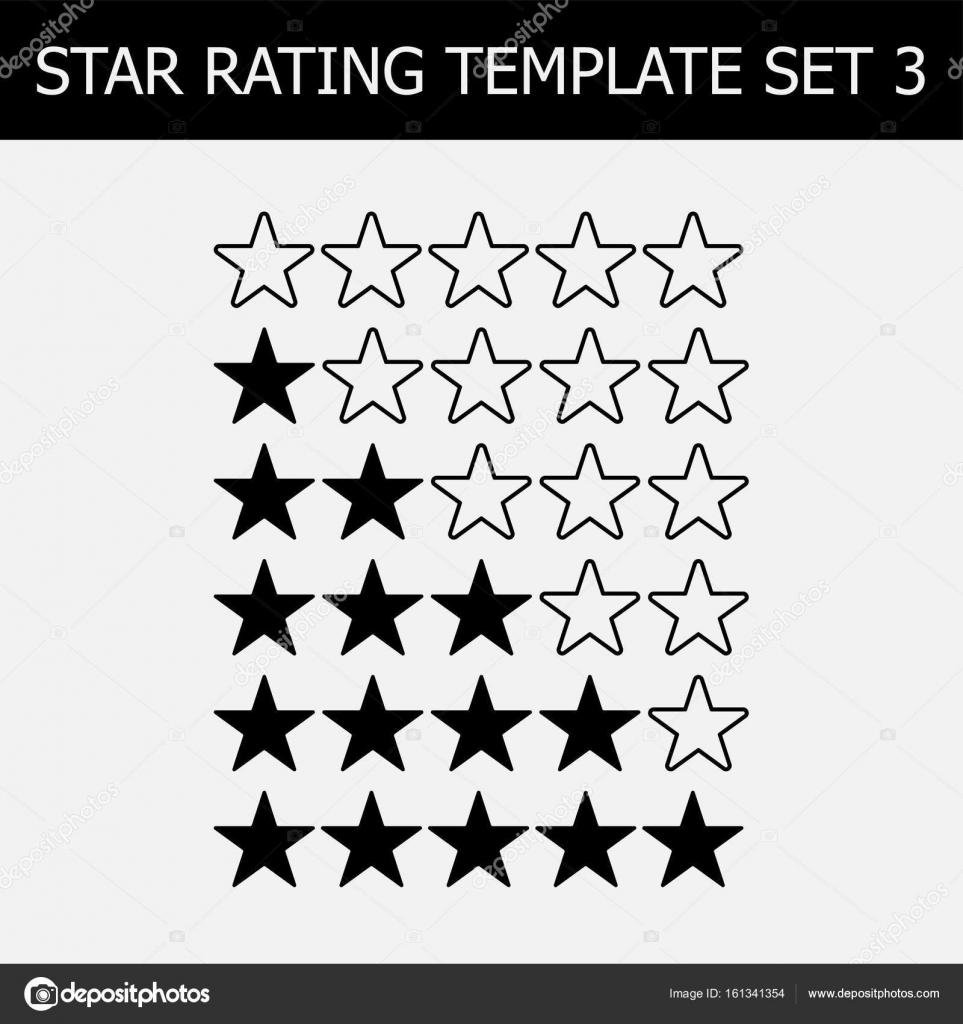 Marvelous Vector Star Rating Assessment. Black And White Illustration. Template For  Web Design. U2014