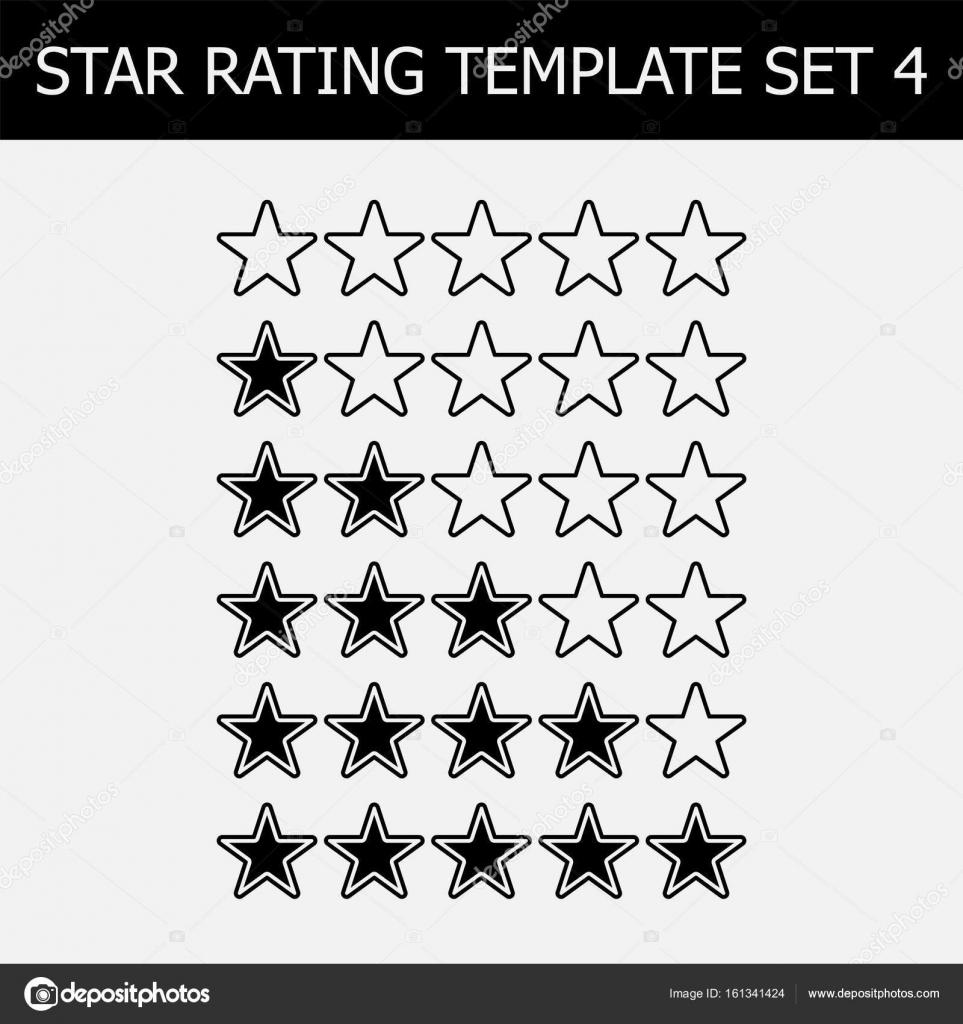 Vektor-Sterne Bewertung. Schwarz und weiß-Abbildung. Vorlage für Web ...