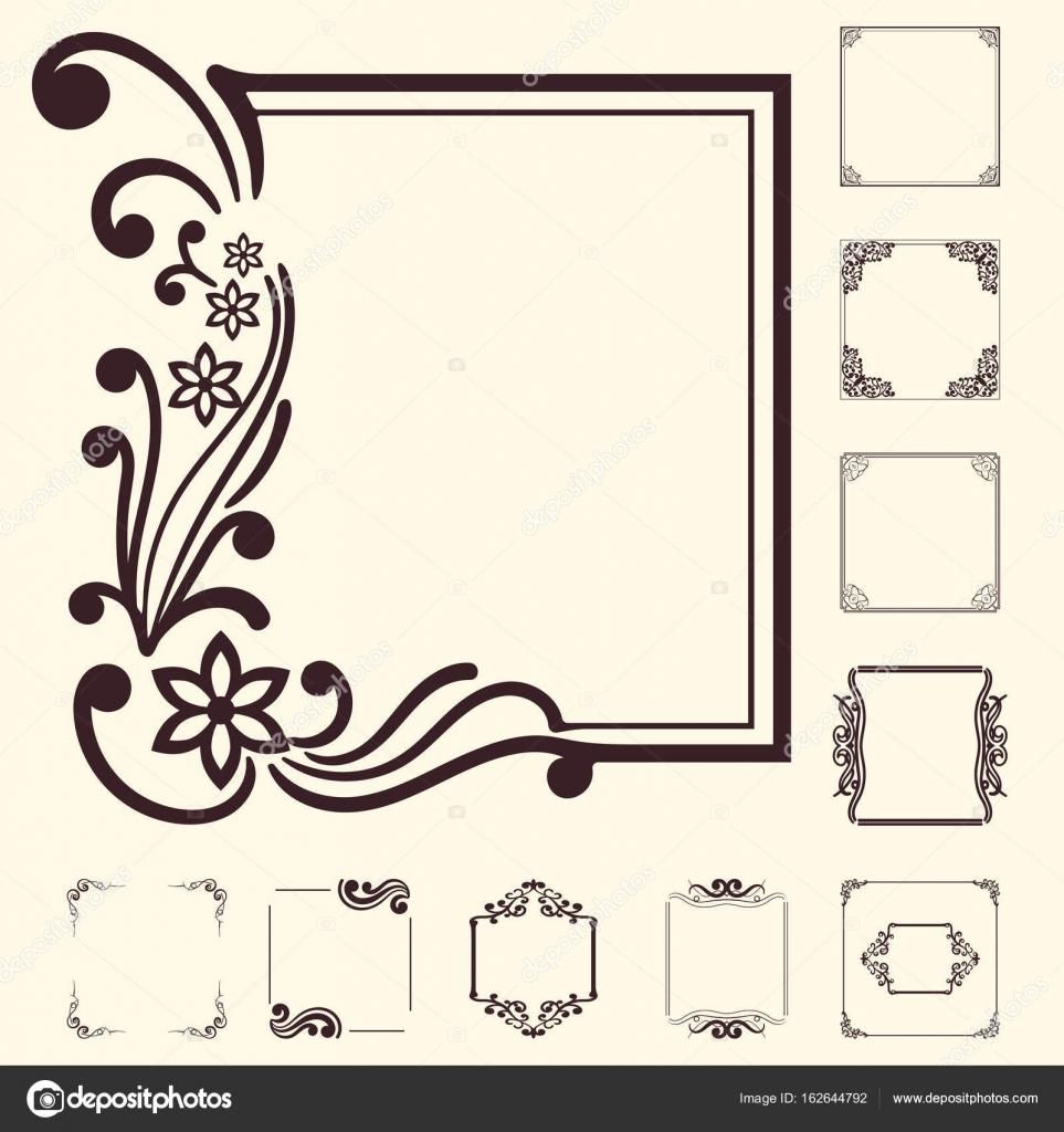 Elementos decorativos de vectores para diseño. Conjunto de ...