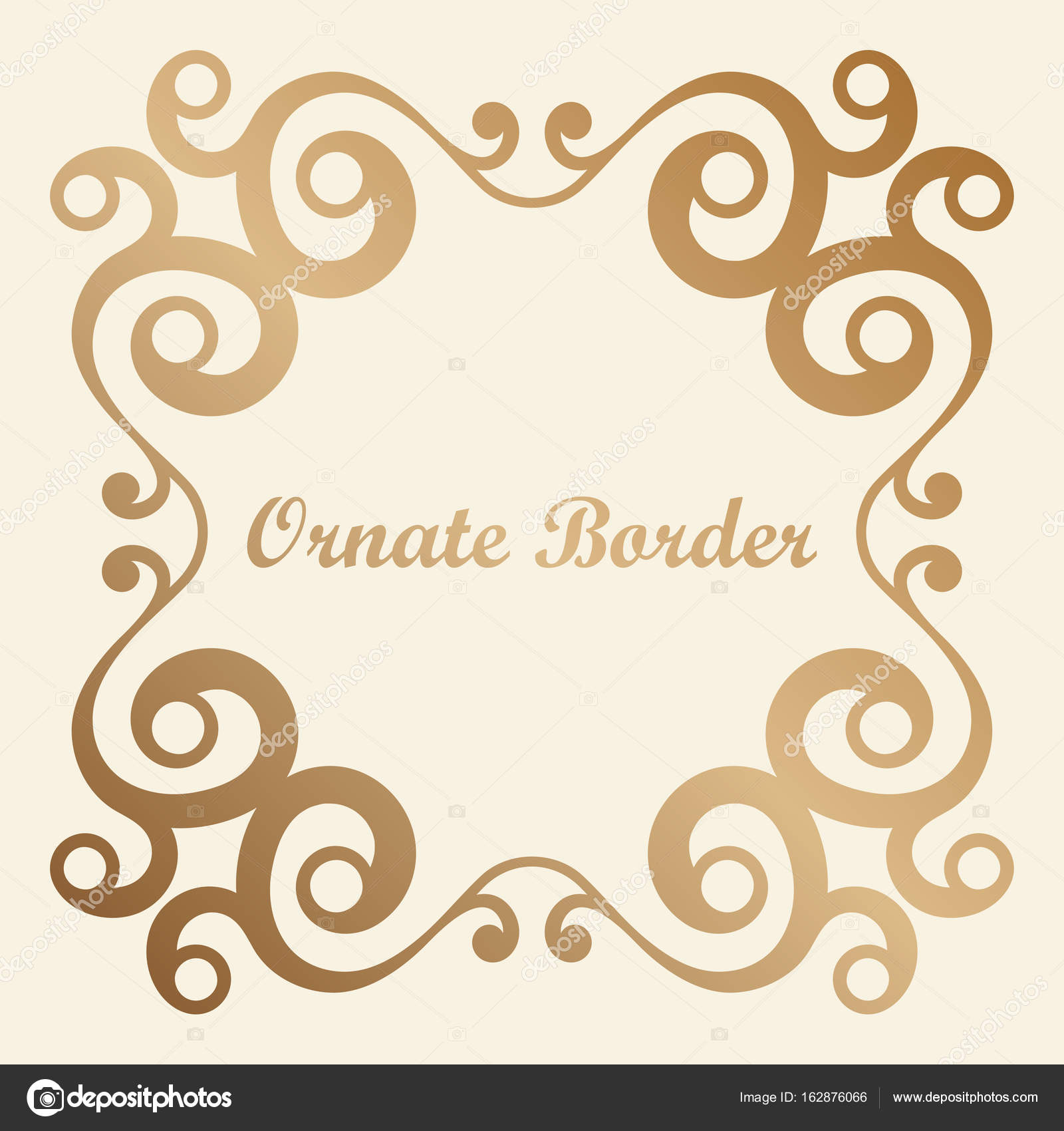 Vector Decorative Element For Design Frame Template With Place Text Fine Floral Border Lace Decor Elegant Art Birthday And Greeting Card