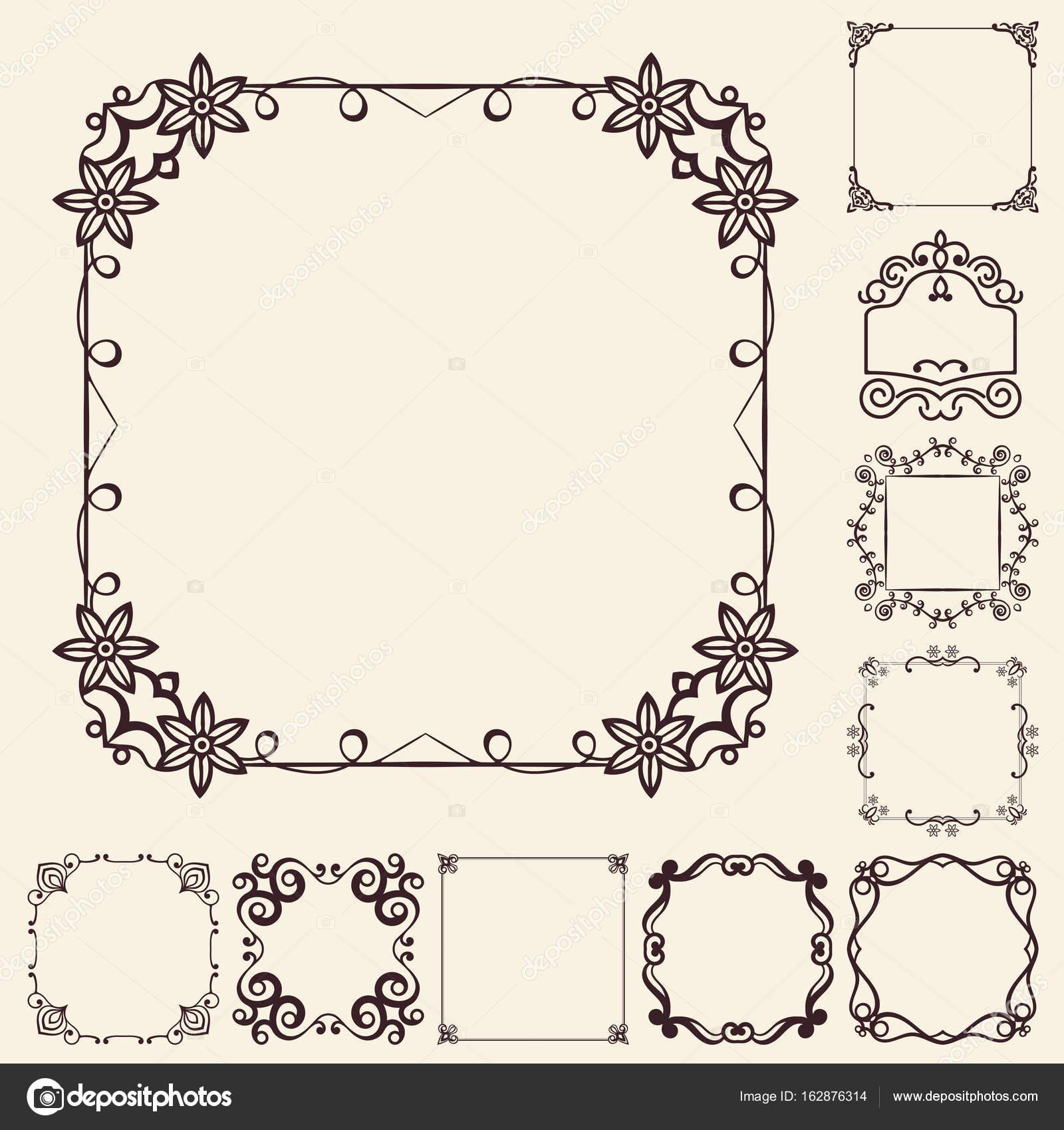 Vektor dekorative Elemente für das Design. Frameset Vorlagen ...