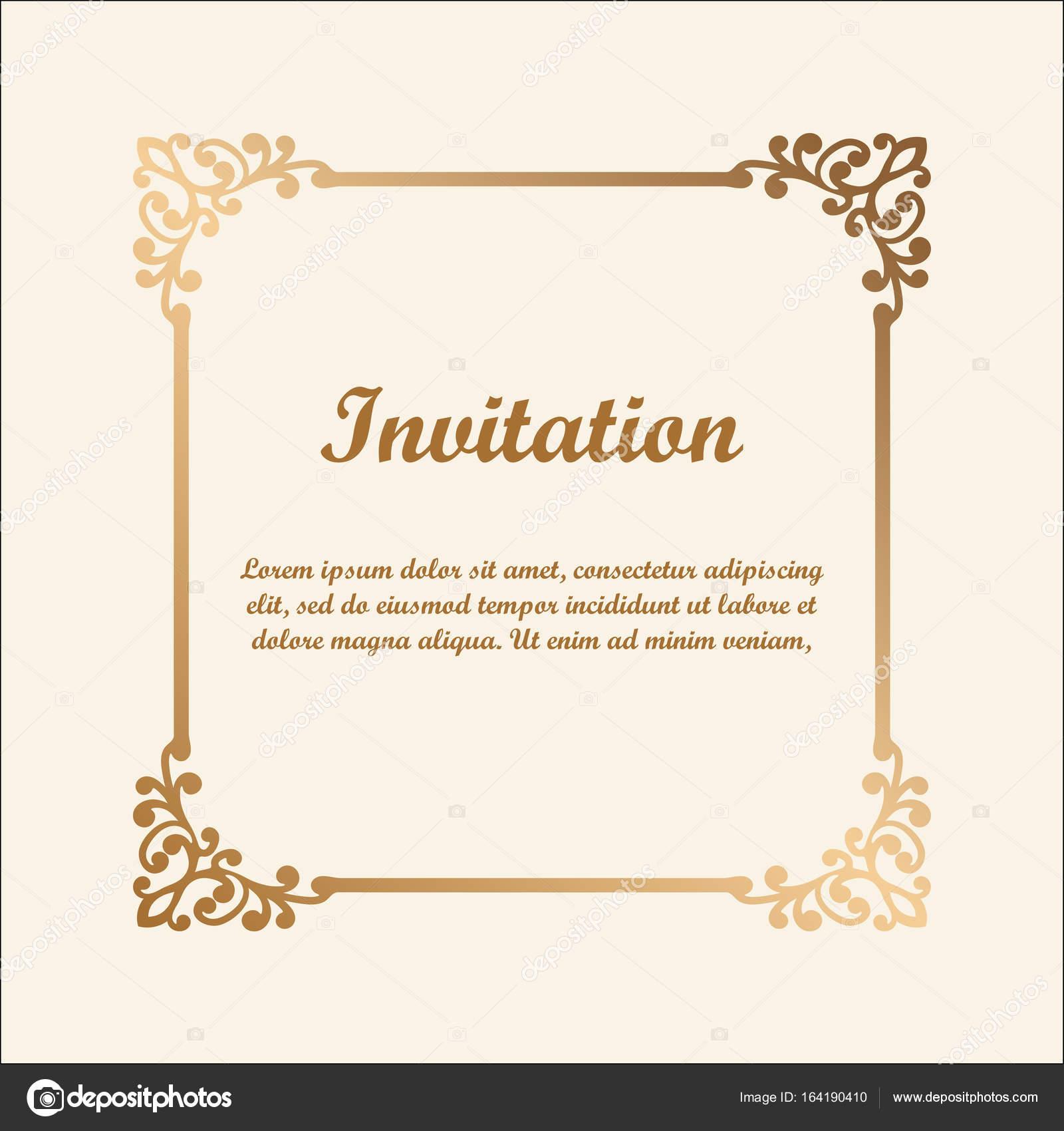 Ziemlich Hochzeit Einladung Grenze Vorlagen Zeitgenössisch ...