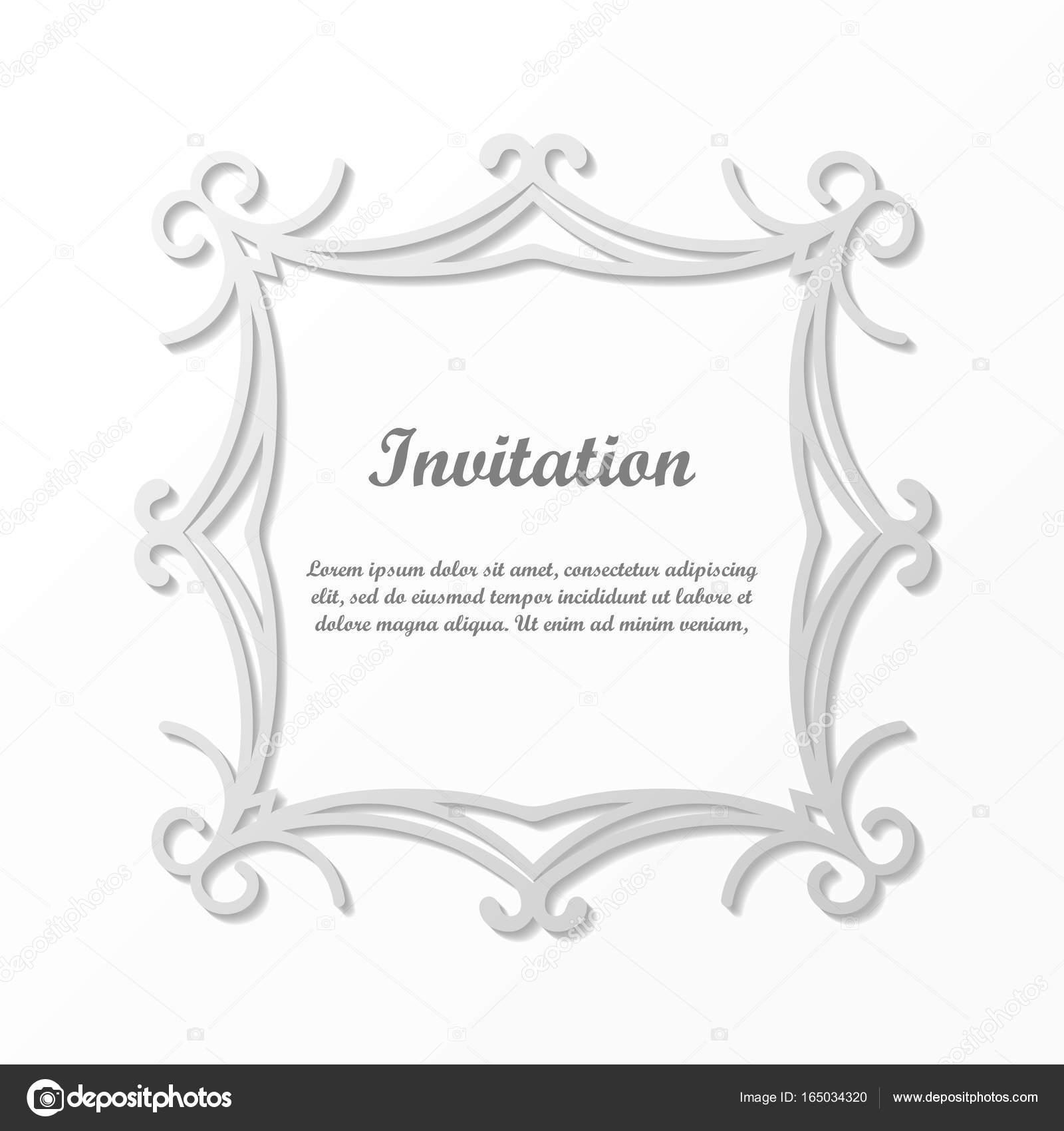 Vektor Dekorationselement für Design. Frame-Vorlage mit Platz für ...