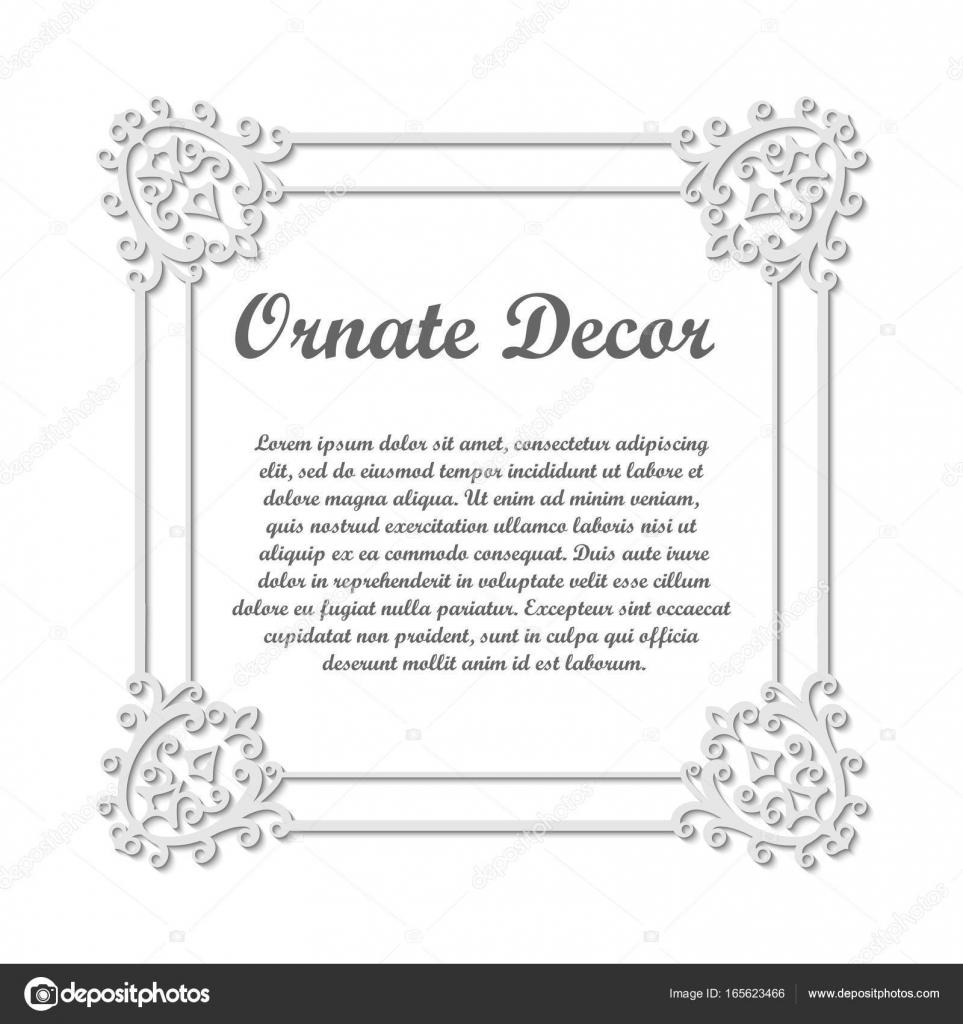 Vector decorative element for design frame template with place for vector decorative element for design frame template with place for text fine floral ornamental junglespirit Choice Image