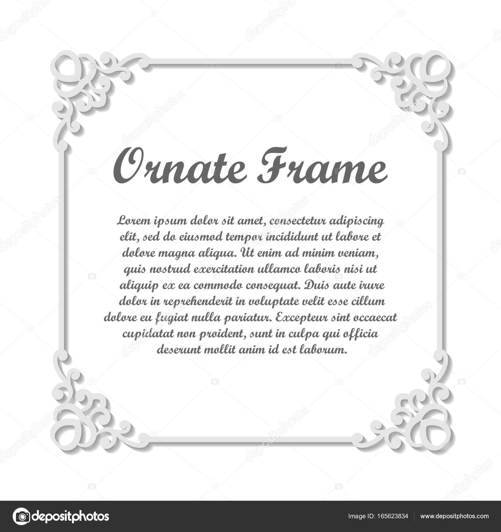 Fine Floral Ornamental Border Lace Decor Elegant Art For Birthday And Greeting Card Wedding Invitation Ornate Corners