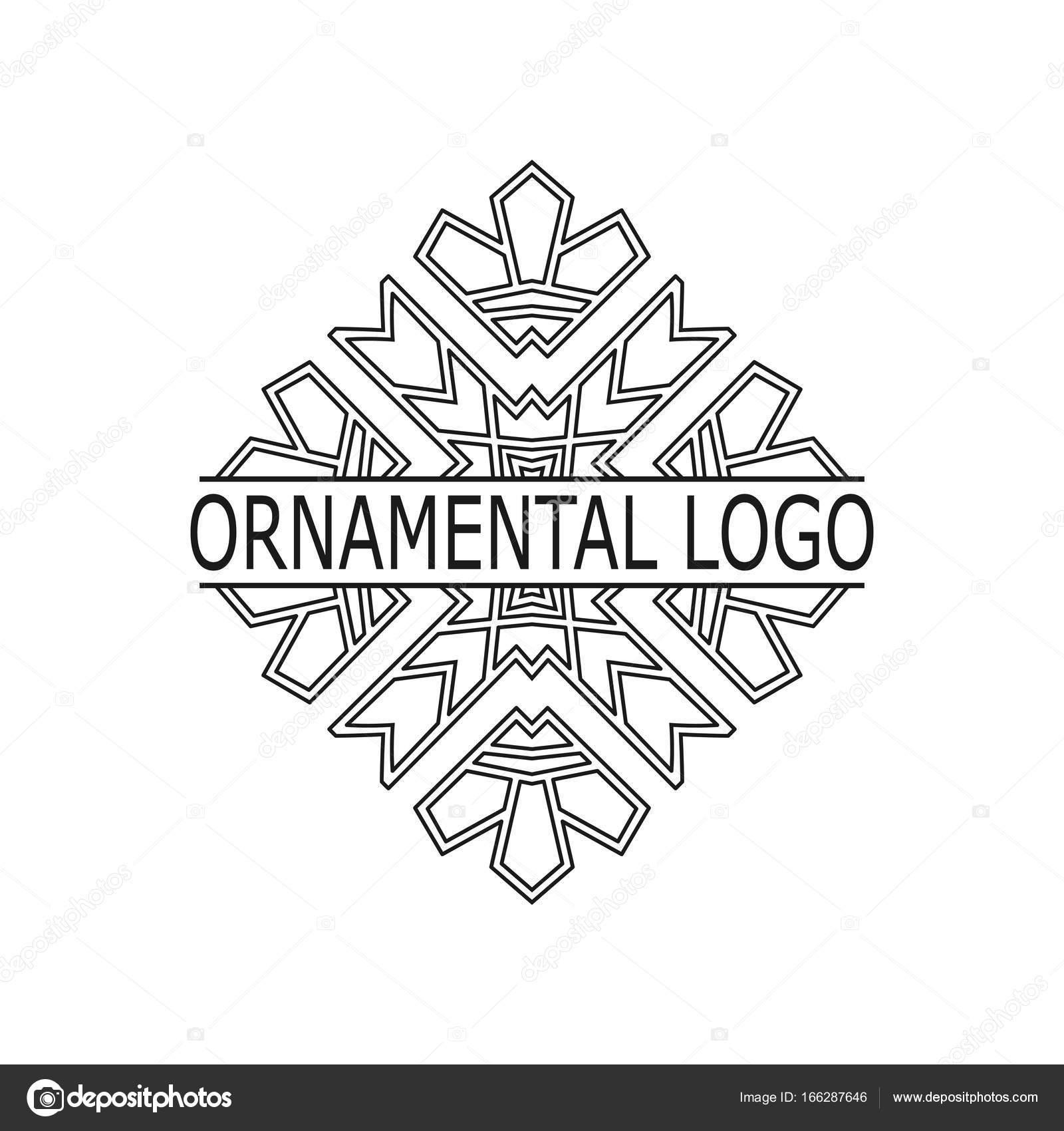 Vintage black geometrical linear vector frame, label for your logo ...