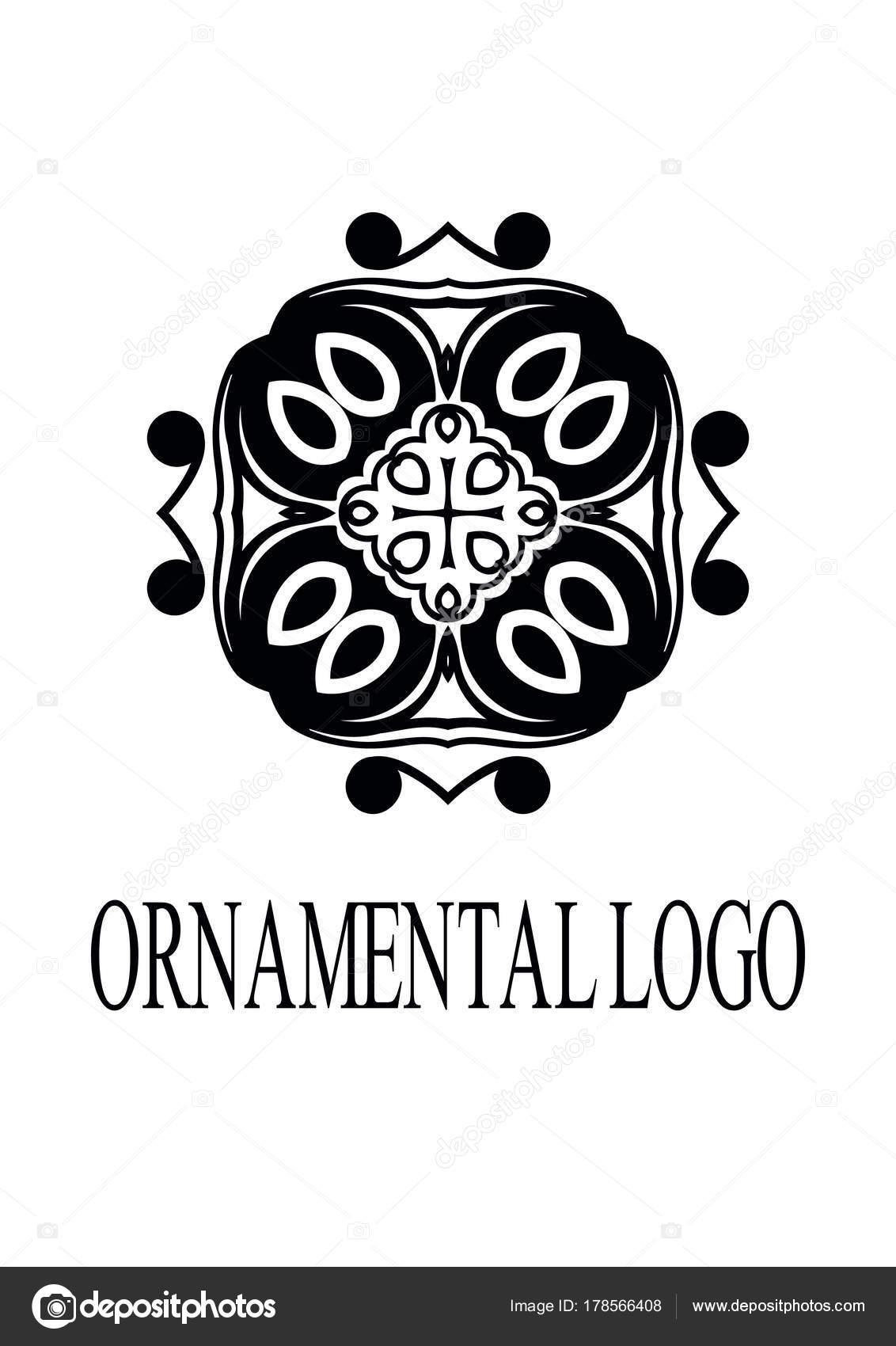 Vintage ornamentalen Emblem. Elegante Luxus Schmuck. Blühte Logo ...