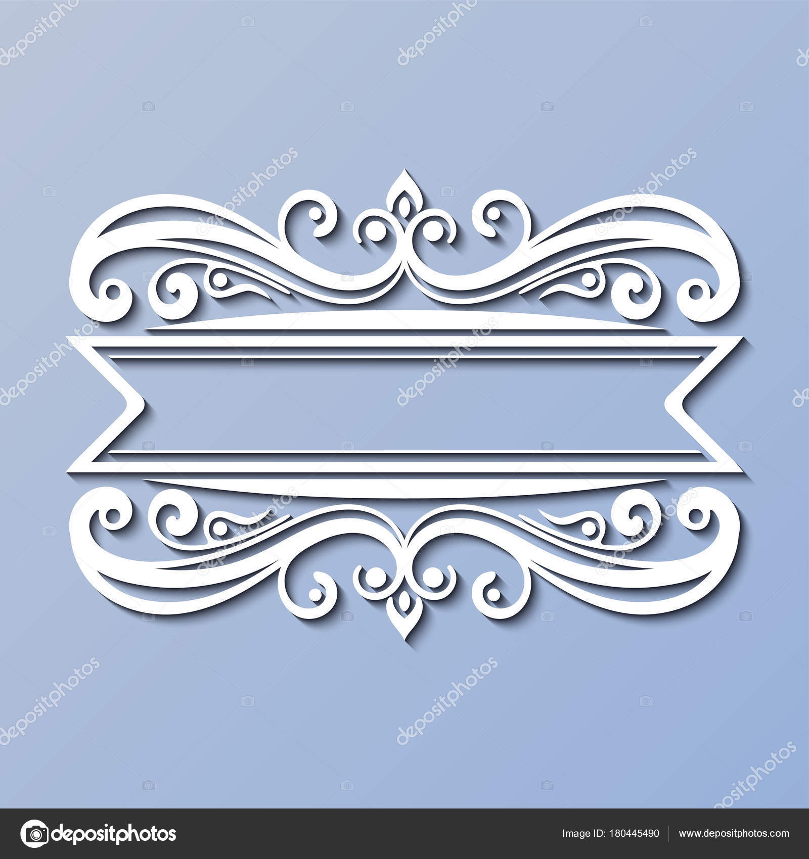 Vintage Calligraphic Label Ornate Logo Template For Design Of