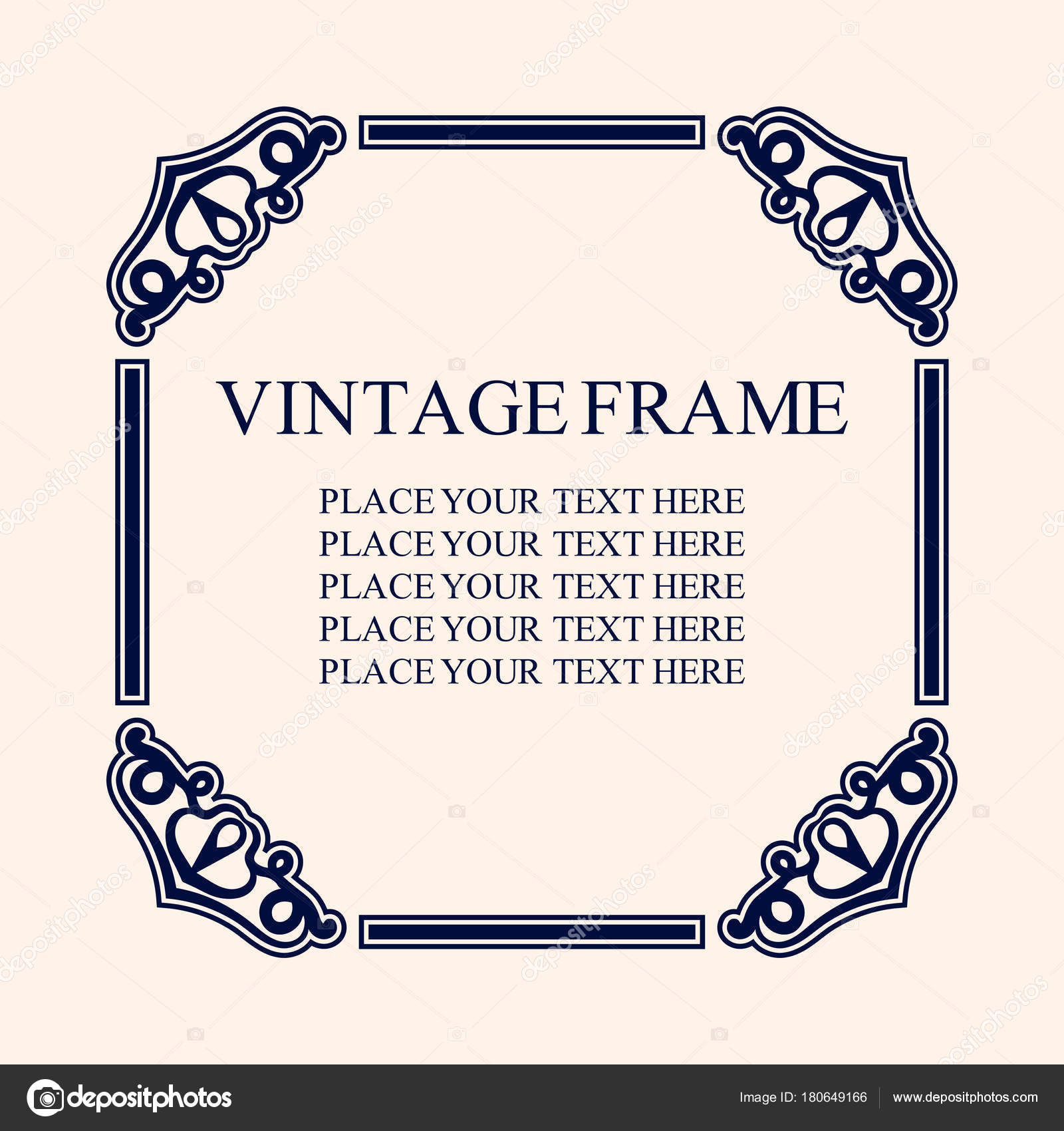 Vintage decorative frame elegant ornamental template for design of elegant ornamental template for design of birthday and greeting card wedding invitation with place for text vector illustrationv vetor de stopboris