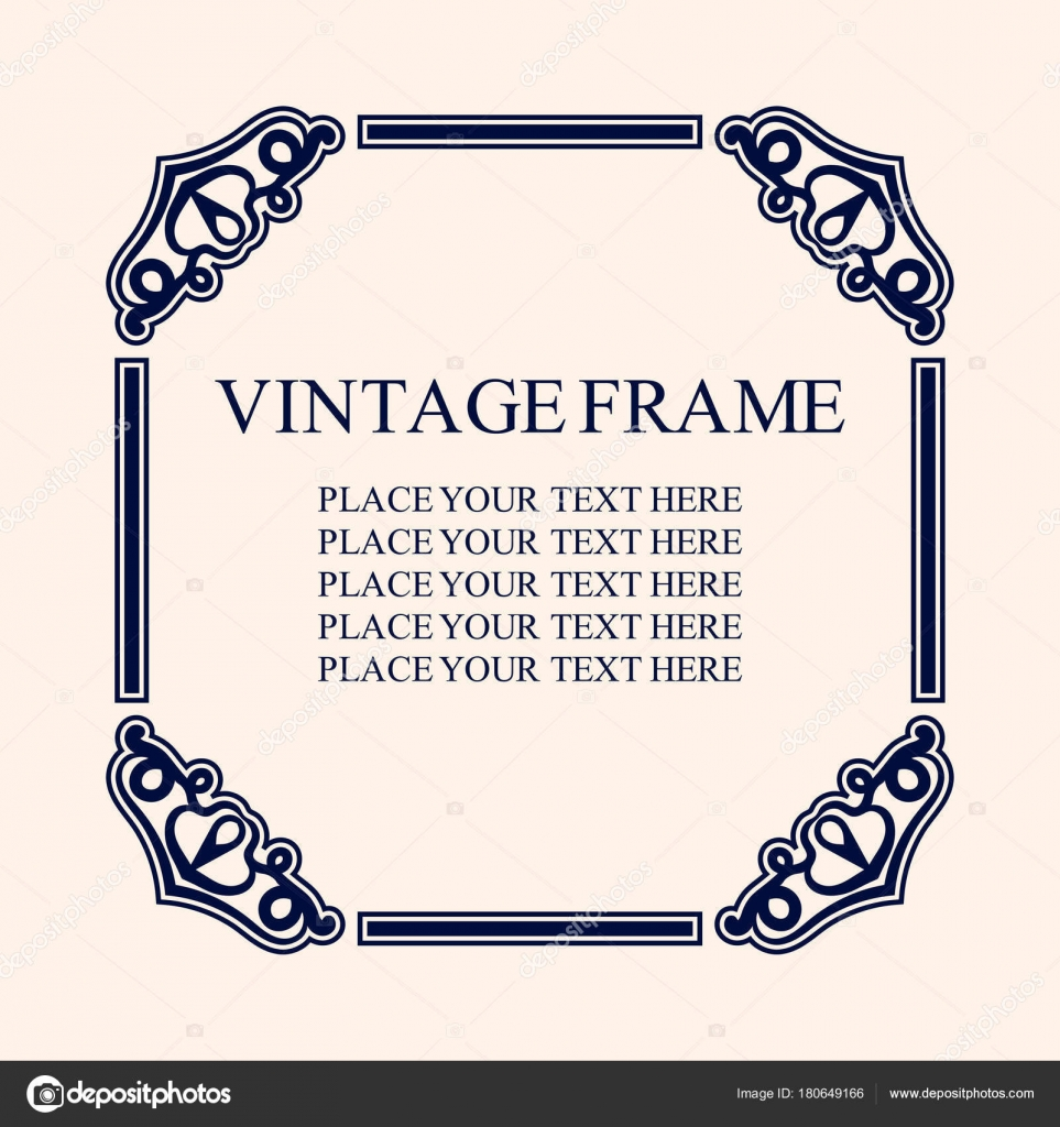Vintage decorative frame elegant ornamental template for design of elegant ornamental template for design of birthday and greeting card wedding invitation with place for text vector illustrationv vetor de stopboris Image collections