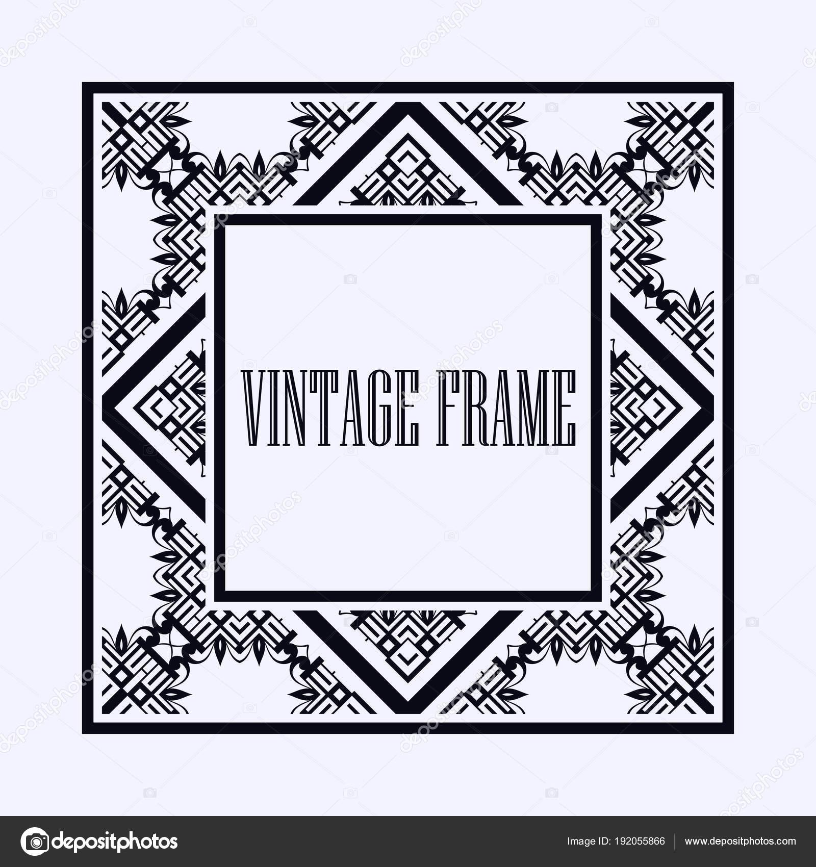 Art Deco frame border — Stock Vector © IllustratorFotostocker2016 ...