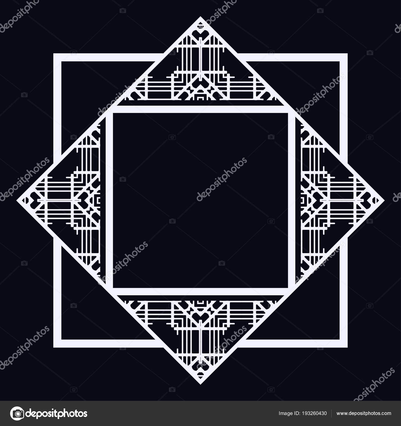 Frontera de marco Art Decó — Archivo Imágenes Vectoriales ...
