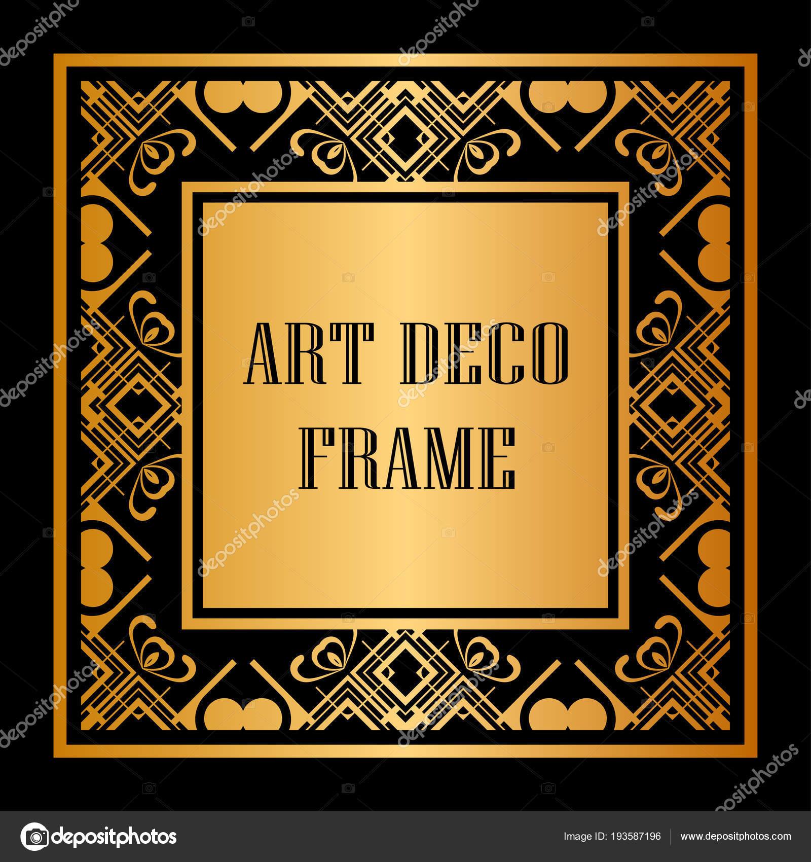 Frontera de marco Art Decó — Vector de stock ...