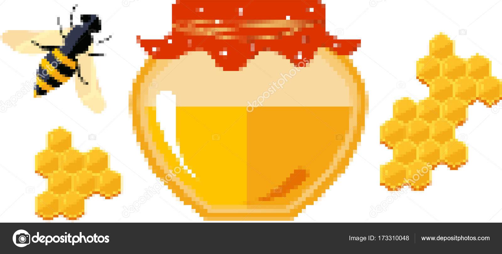 Pixel Art Easy Cute Food Set Of Food Icons In Pixel Style