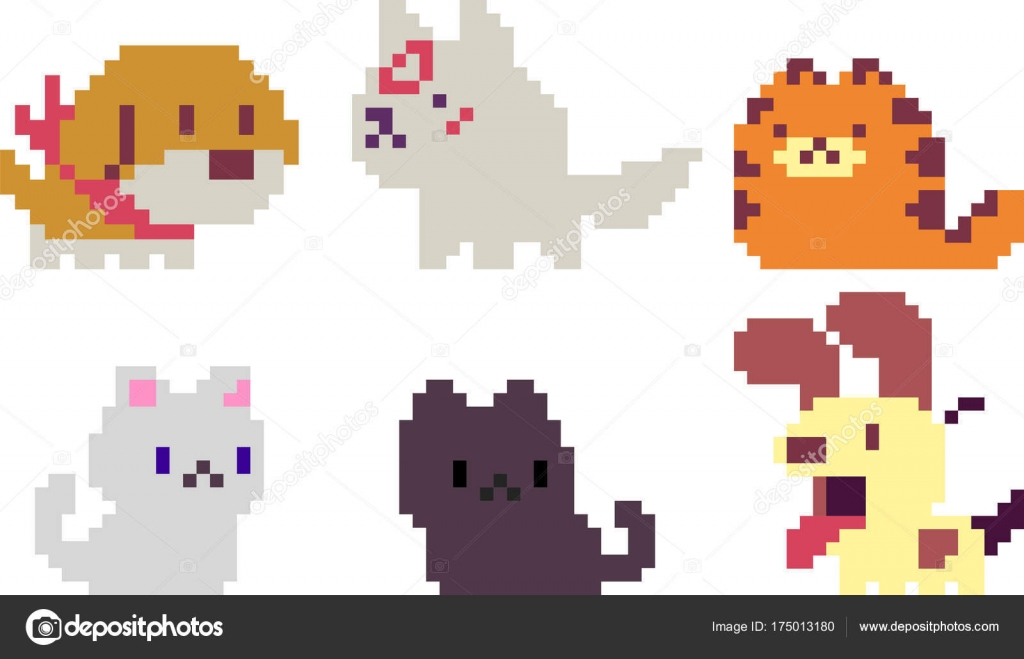 Set Of Pixel Characters Stock Vector Sergeymarkov 175013180