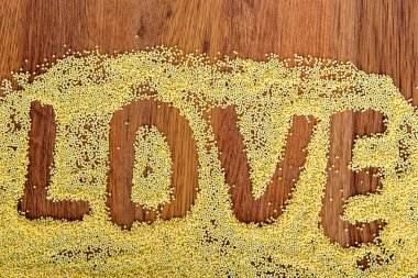 Declaration of love painted millet.